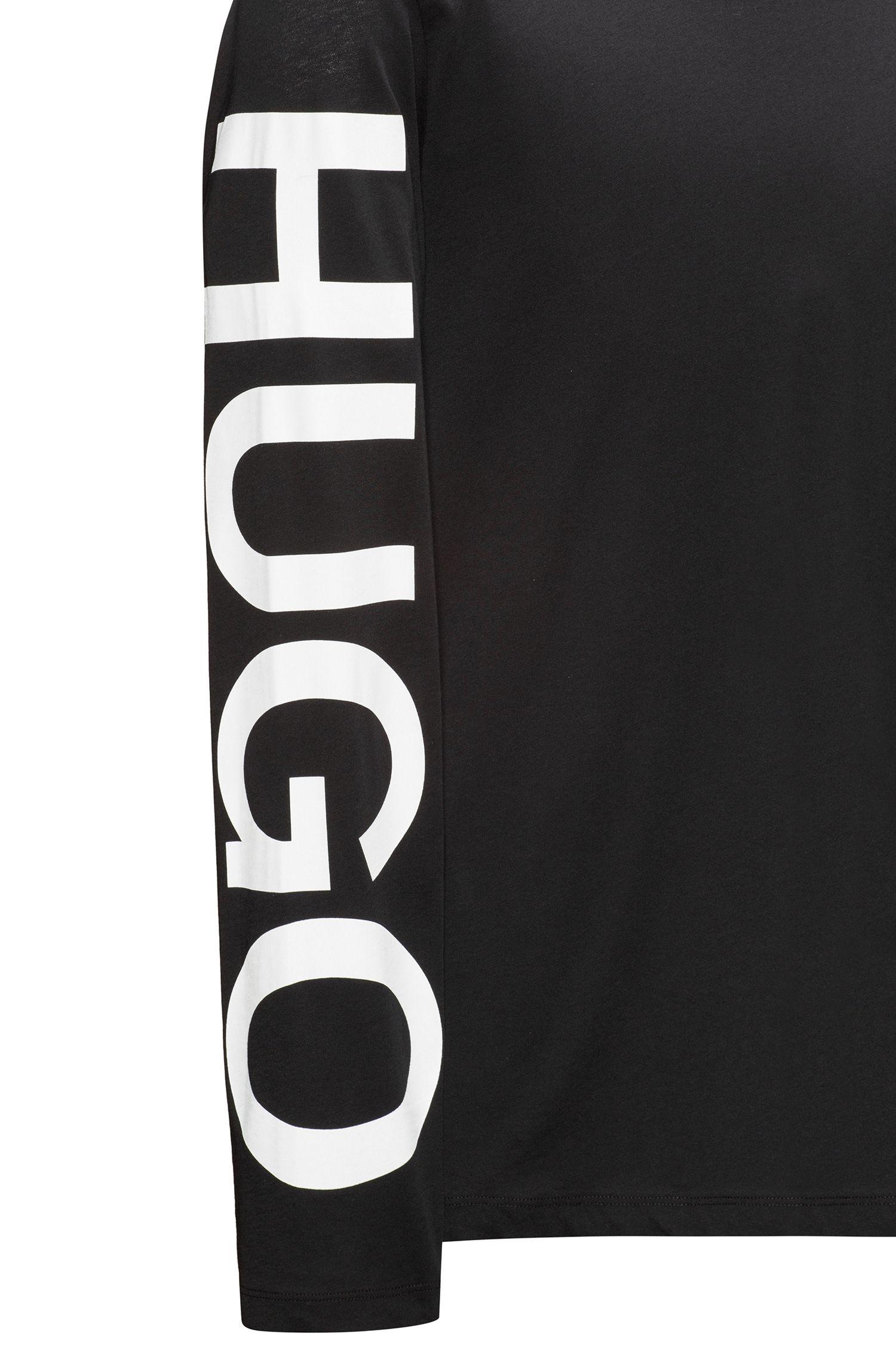 Longsleeve aus Baumwoll-Jersey mit Logo-Print auf dem Ärmel