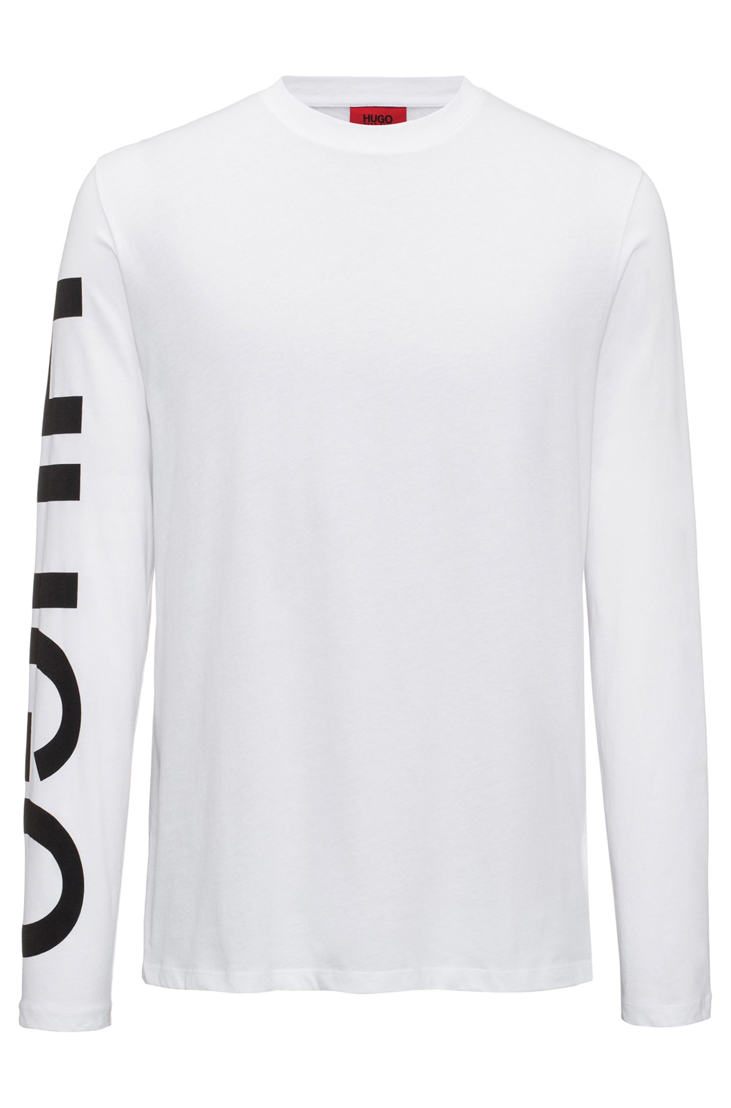 Logo-sleeve T-shirt in cotton jersey