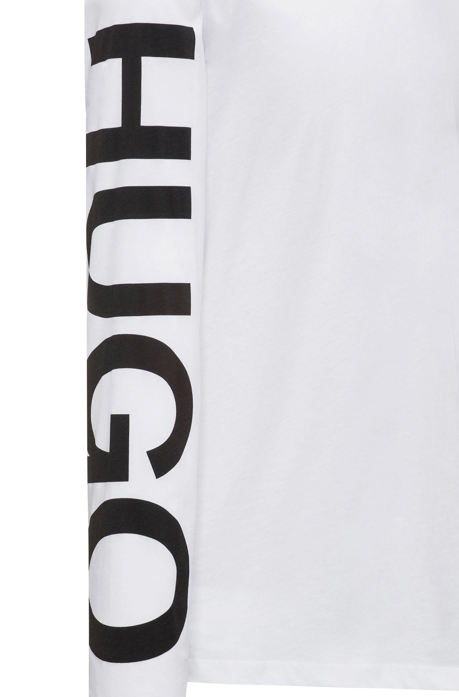 T-shirt in katoenen jersey met logo op de mouw