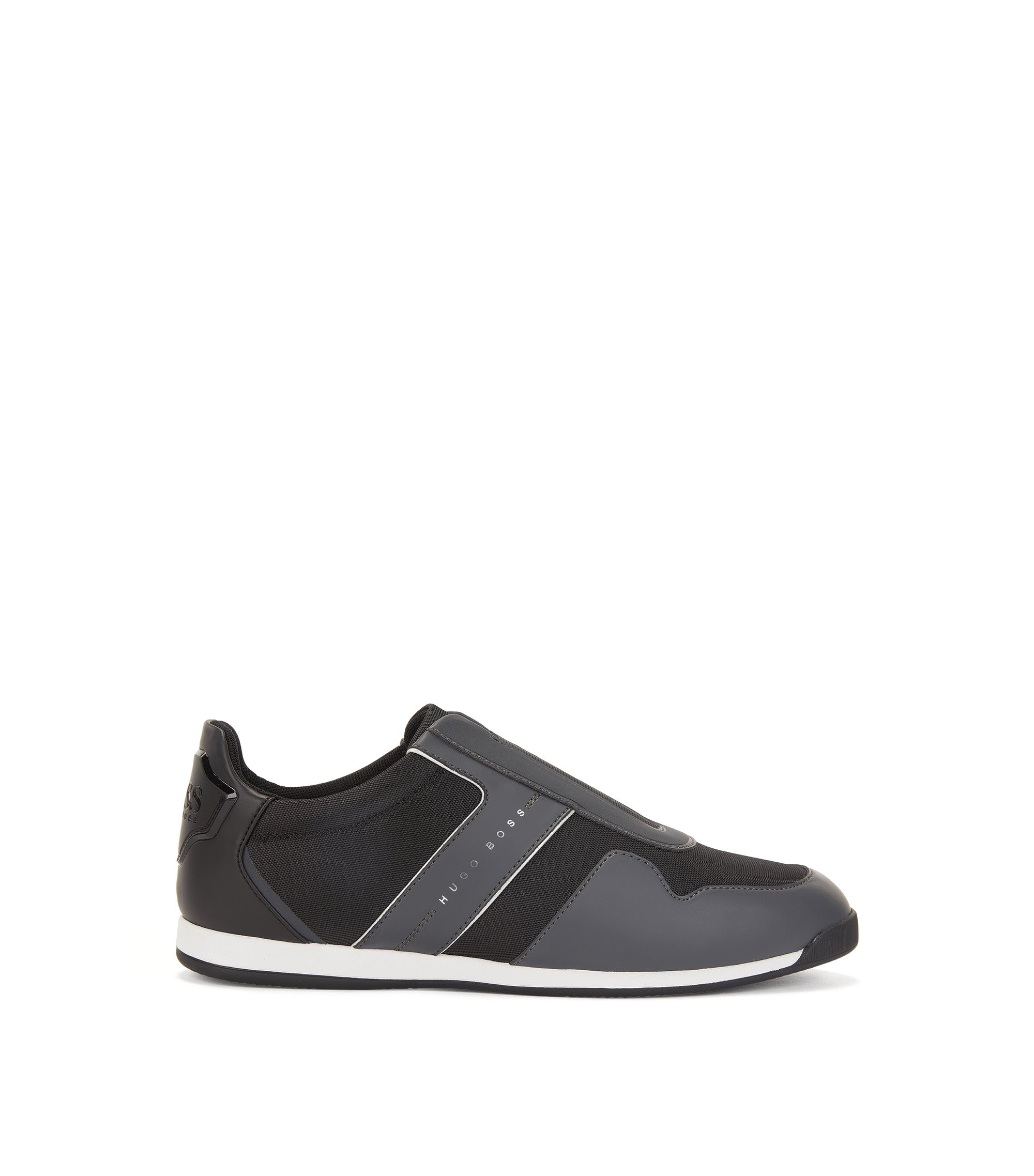 Slip-on trainers with mesh detailing, Anthracite