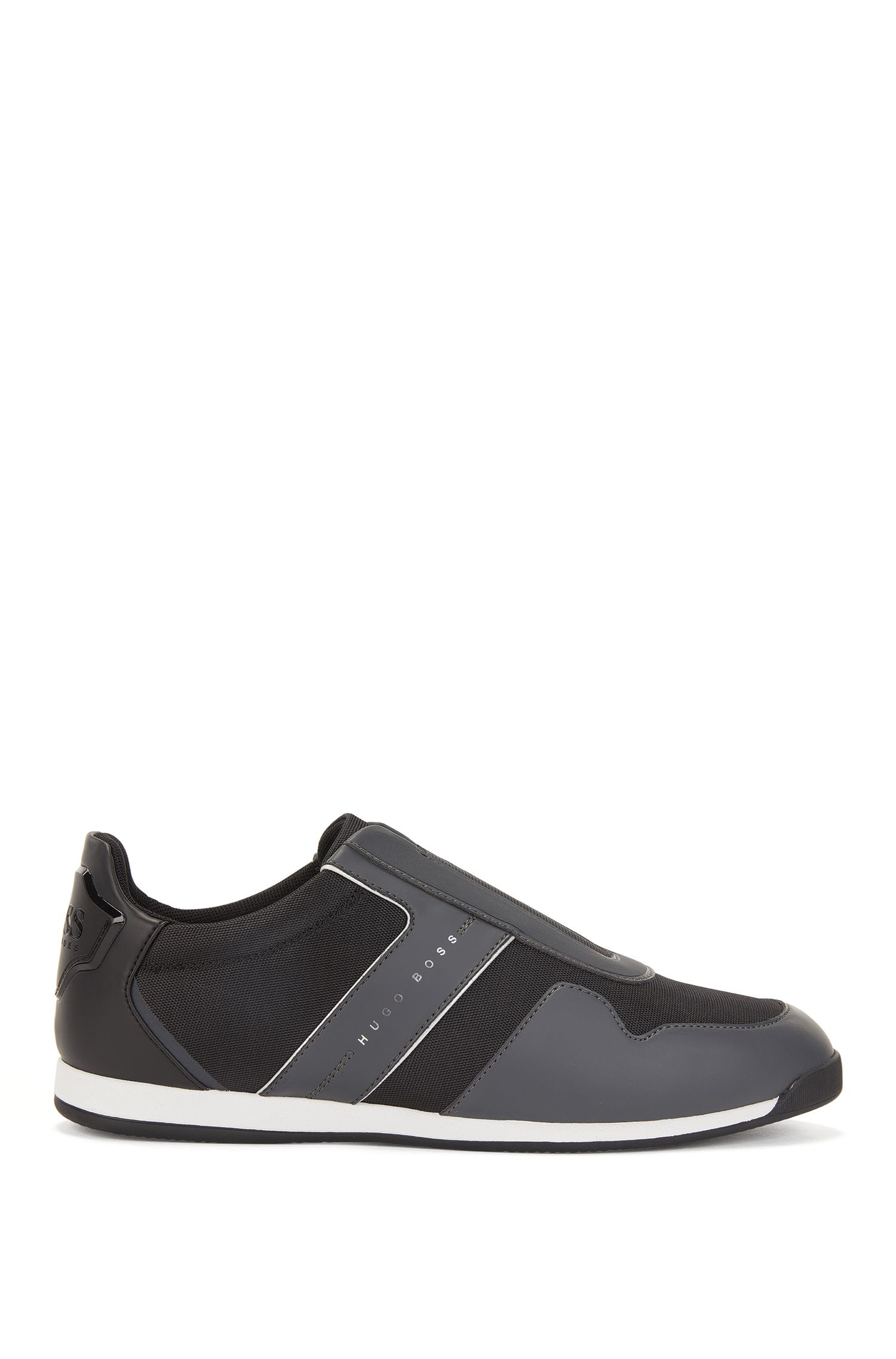 Slip-on Sneakers mit Mesh-Details