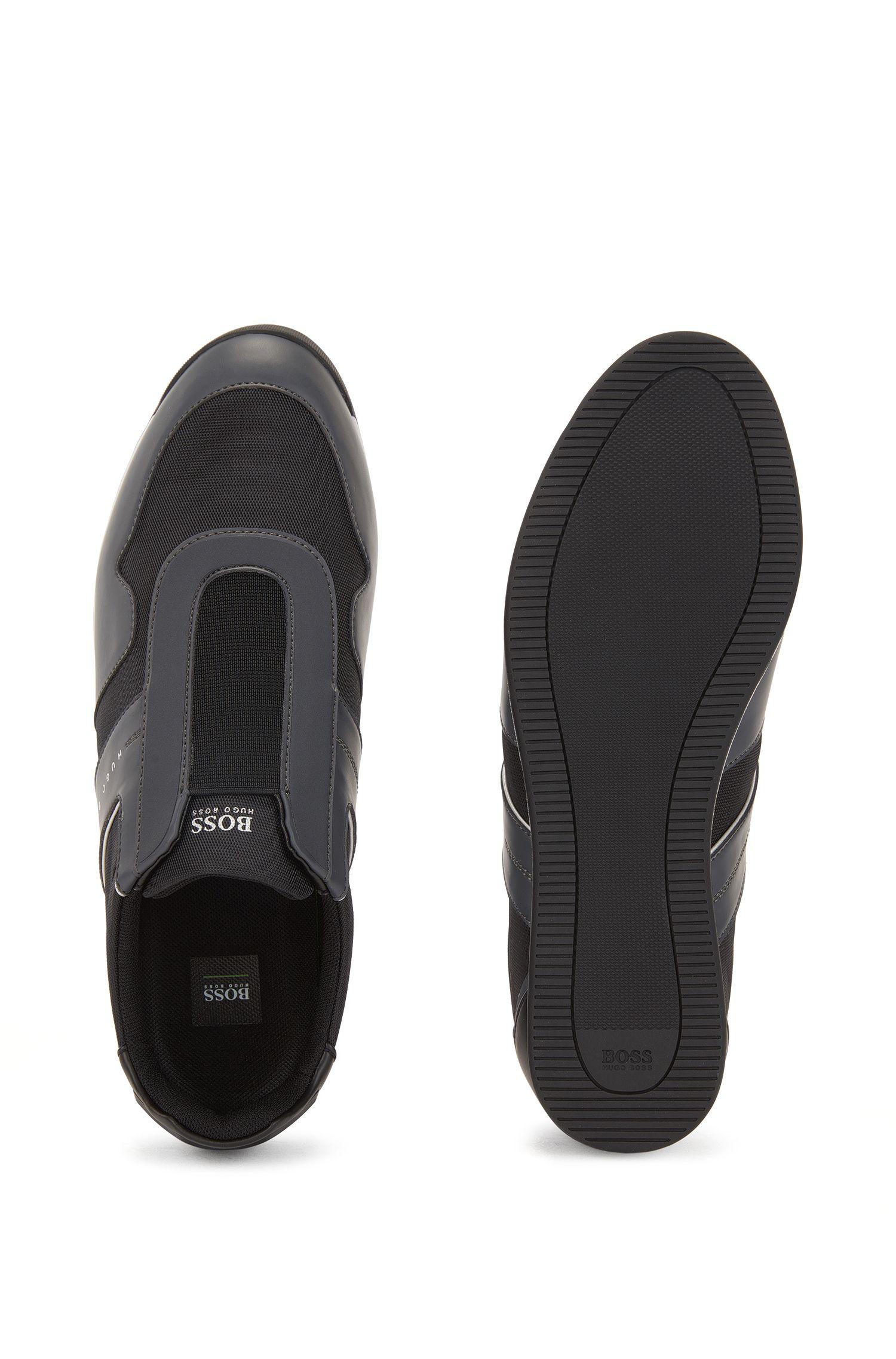 Instapsneakers met meshdetail