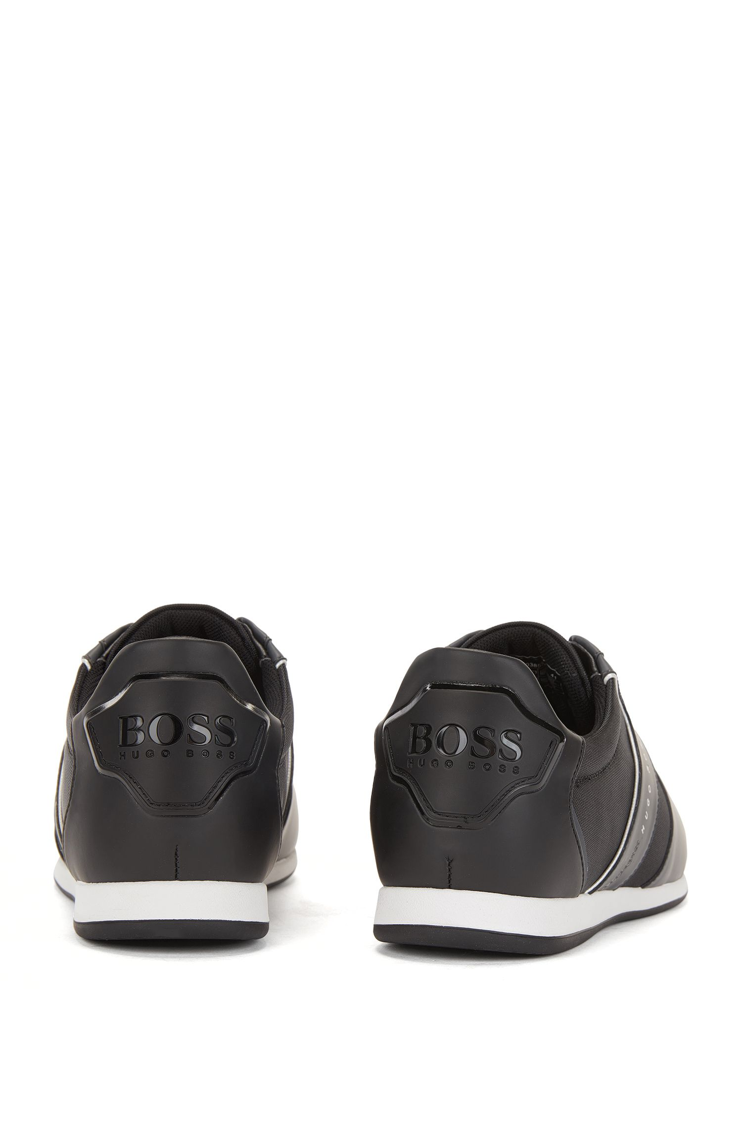 Slip-on Sneakers mit Mesh-Details