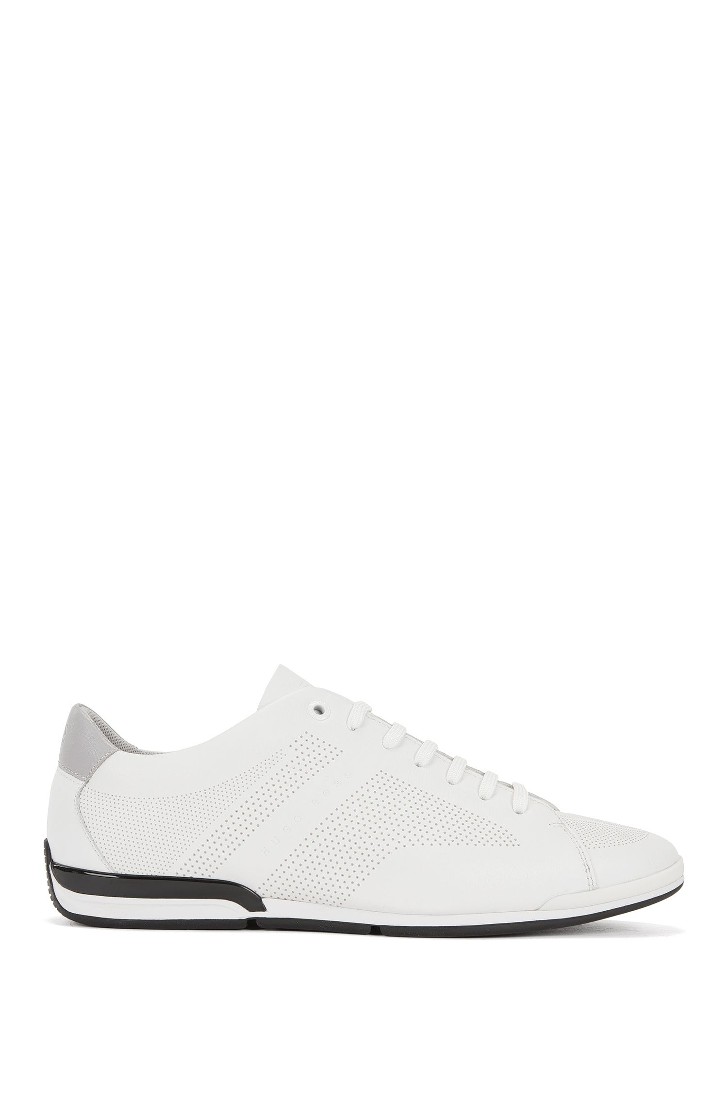 Sneakers stringate low-top in pelle nappa
