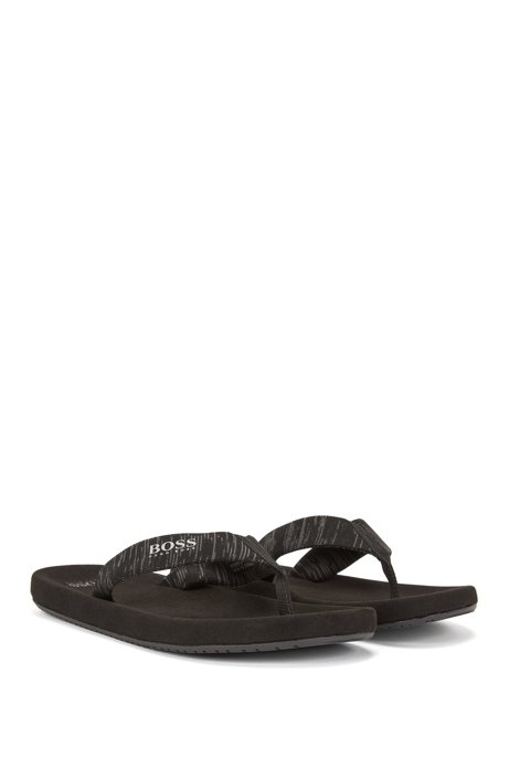 Toe-post flip-flops with knitted jacquard straps BOSS eVvZUWH