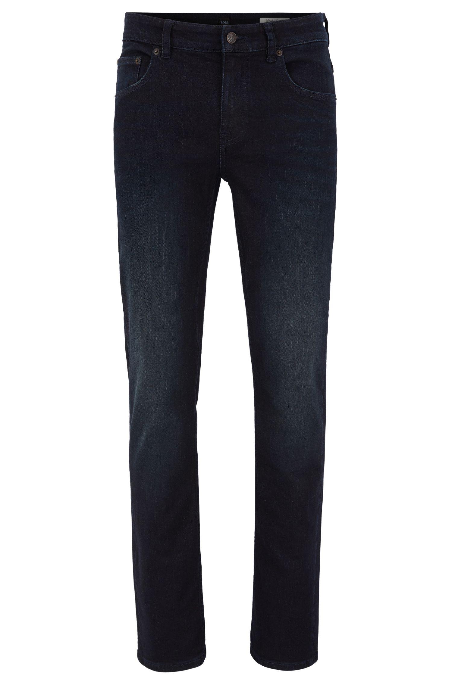 Slim-fit jeans in distressed super-stretch denim