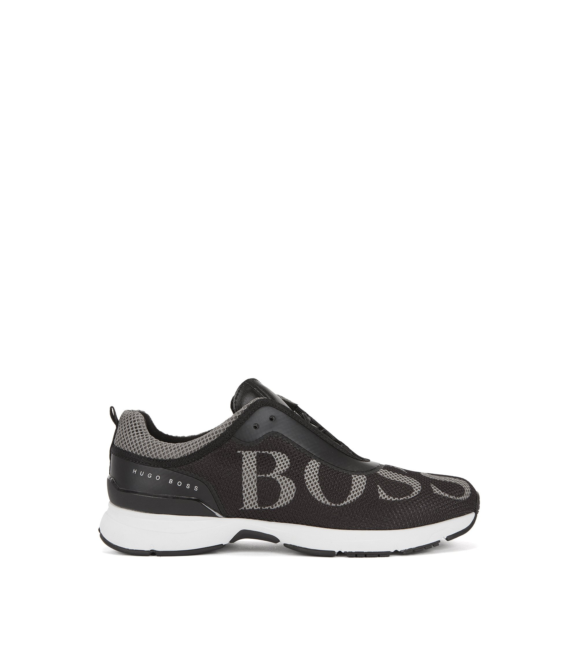 Mesh trainers with Strobel construction, Black