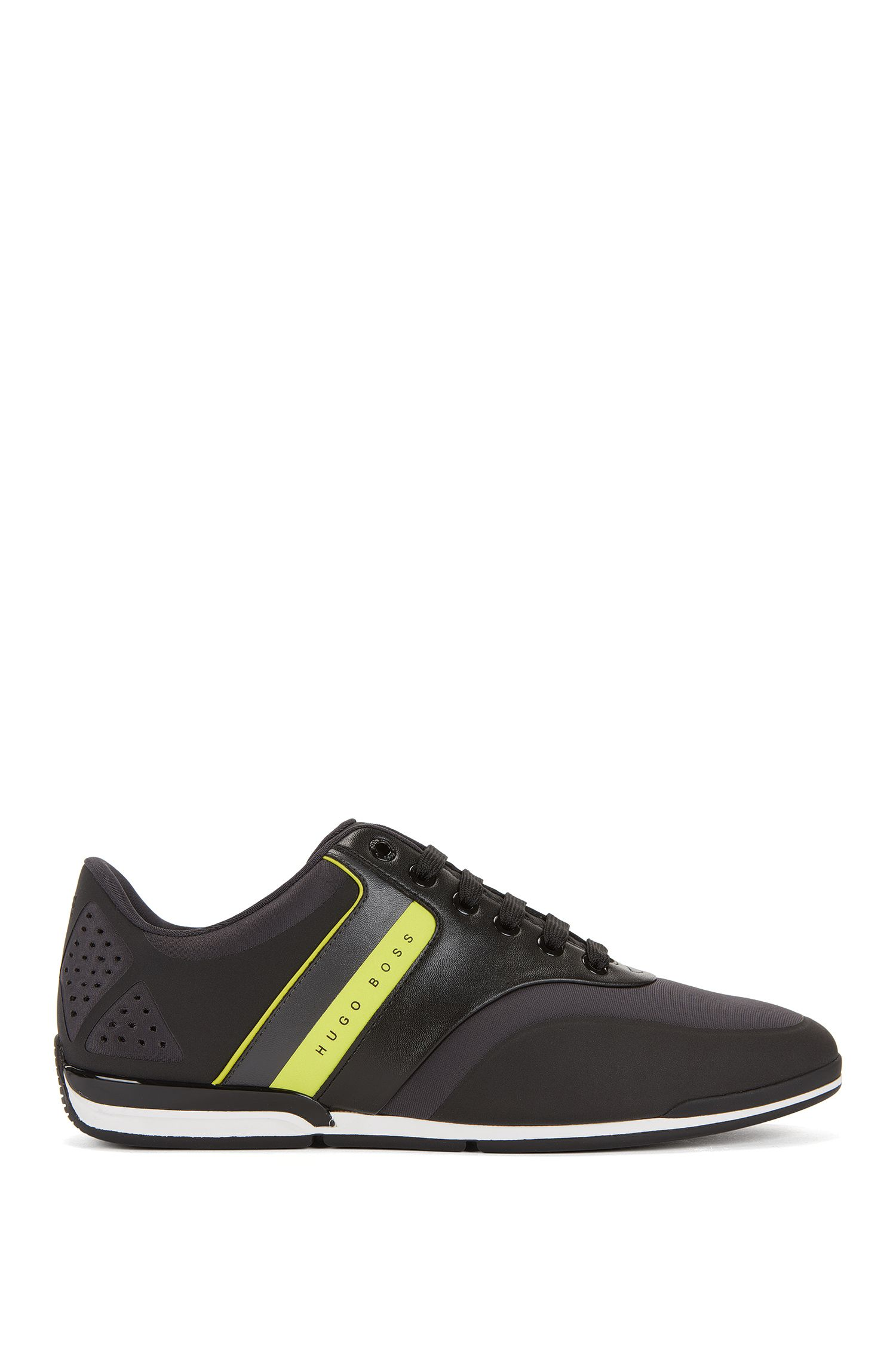 Lowtop Sneakers aus Neopren mit Streifen