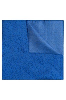 Einstecktuch aus gepunkteter Seide, Blau