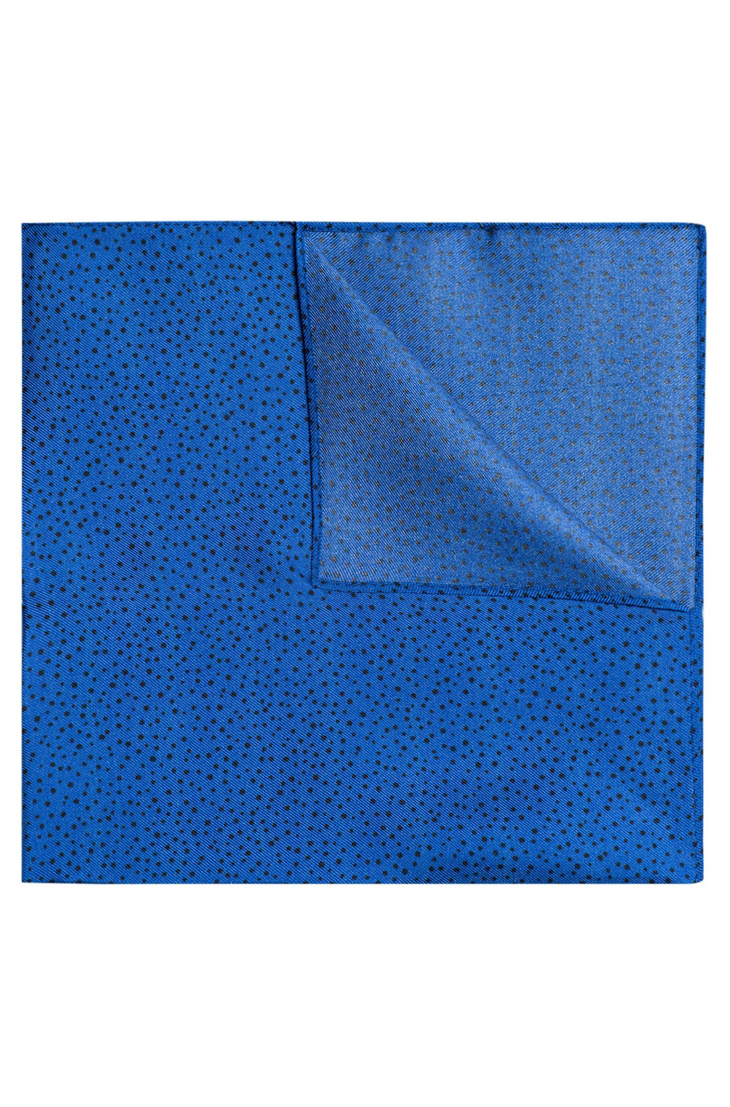 Pochet van zijden keperstof met stippenprint