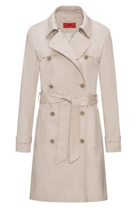 Hugo Boss Trench coat in stretch cotton hardware details 10 Beige BOSS Free Shipping Cheap Price Outlet Eastbay 8F1Sa