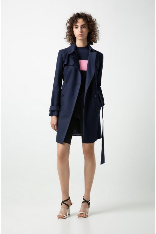 Hugo Boss - Double-breasted trench coat in stretch cotton - 2