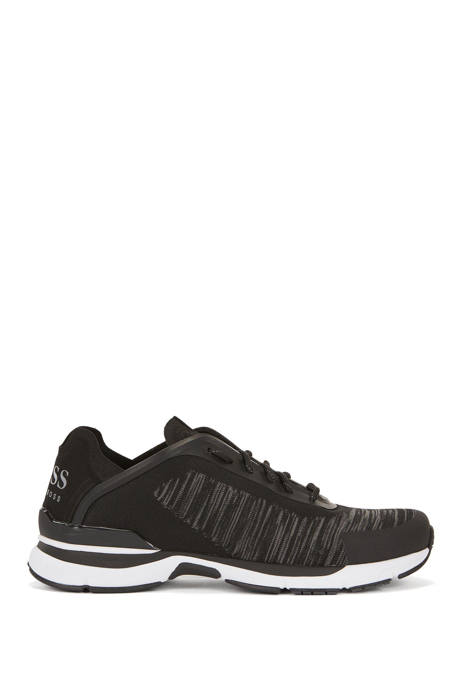 Deportivas estilo zapatillas de correr con empeines en punto de jacquard