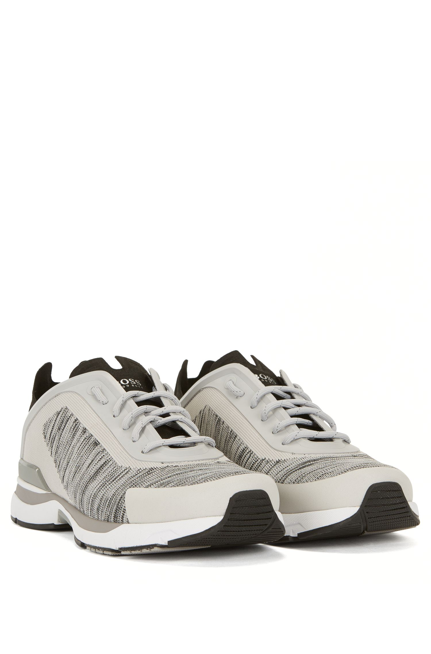 Sneakers in stile runner con tomaia in maglia jacquard
