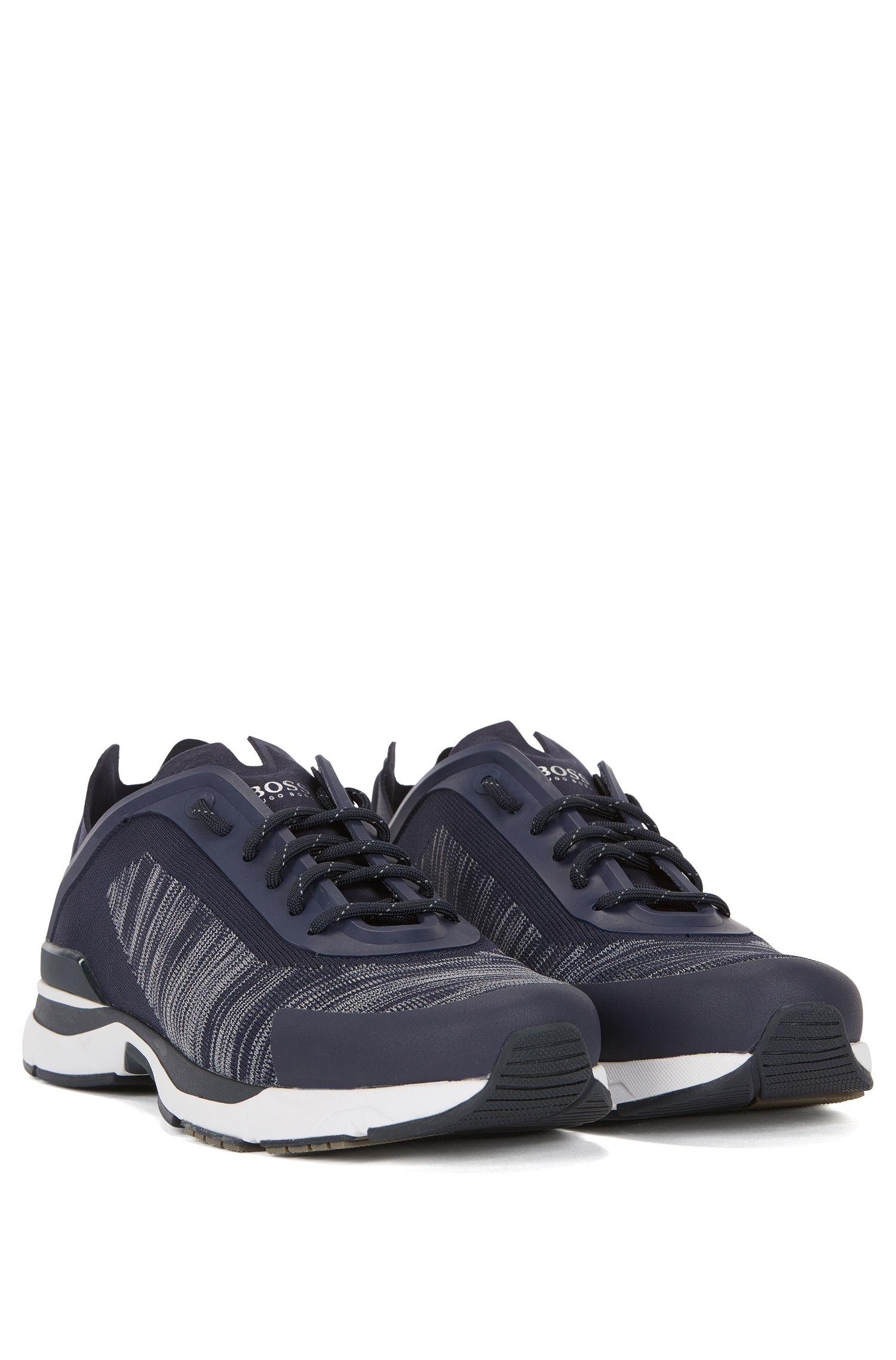 Baskets inspirées des chaussures de course avec tige en maille jacquard