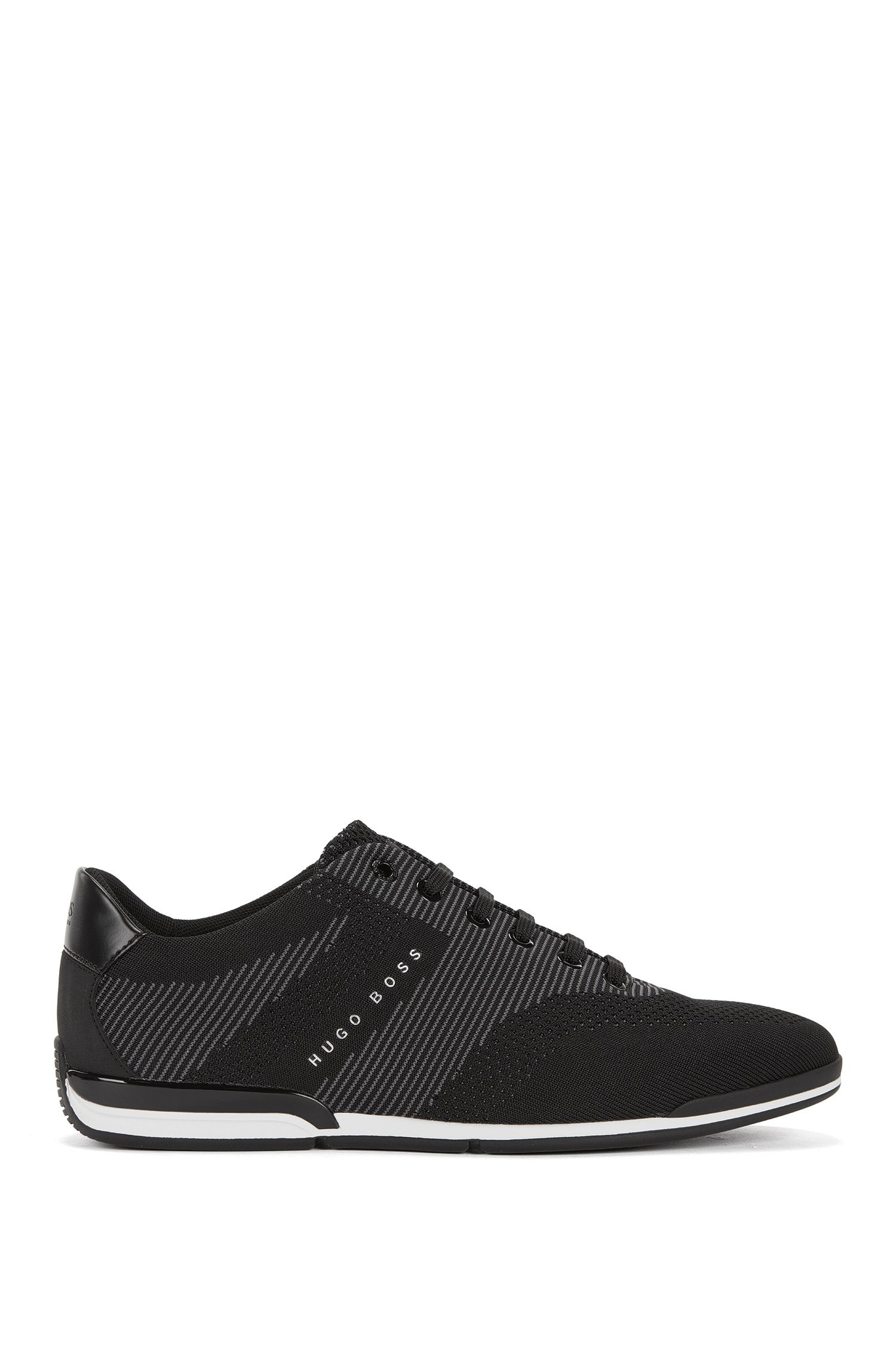 Sneakers low-top con tomaia in maglia senza cuciture