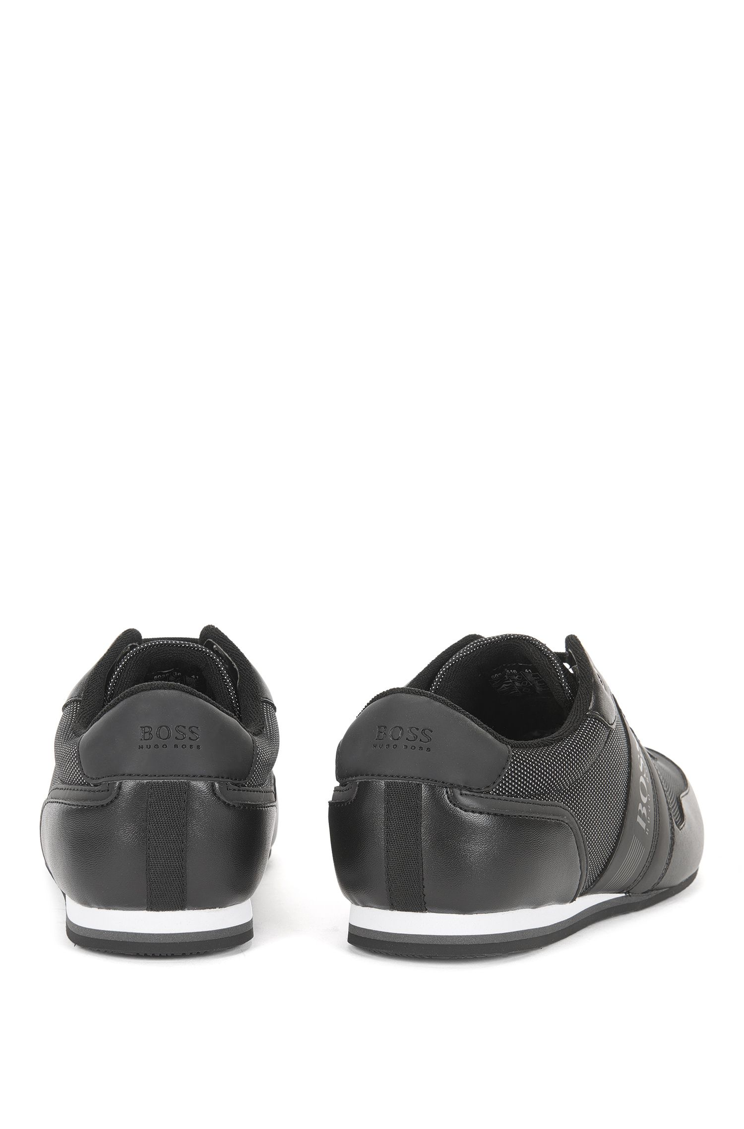 Low-profile trainers with reflective uppers