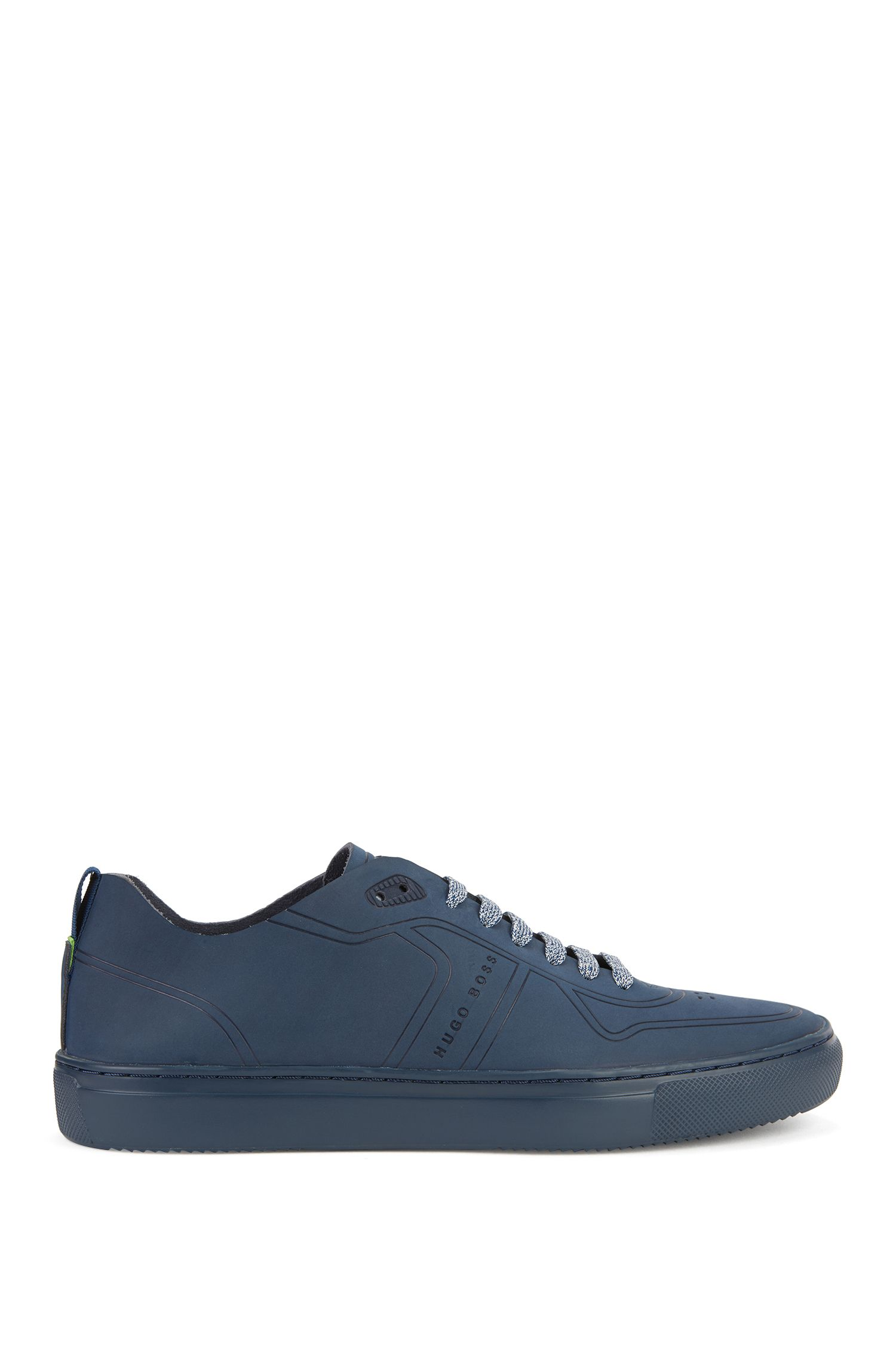 Sneakers low-top stile tennis in nabuk