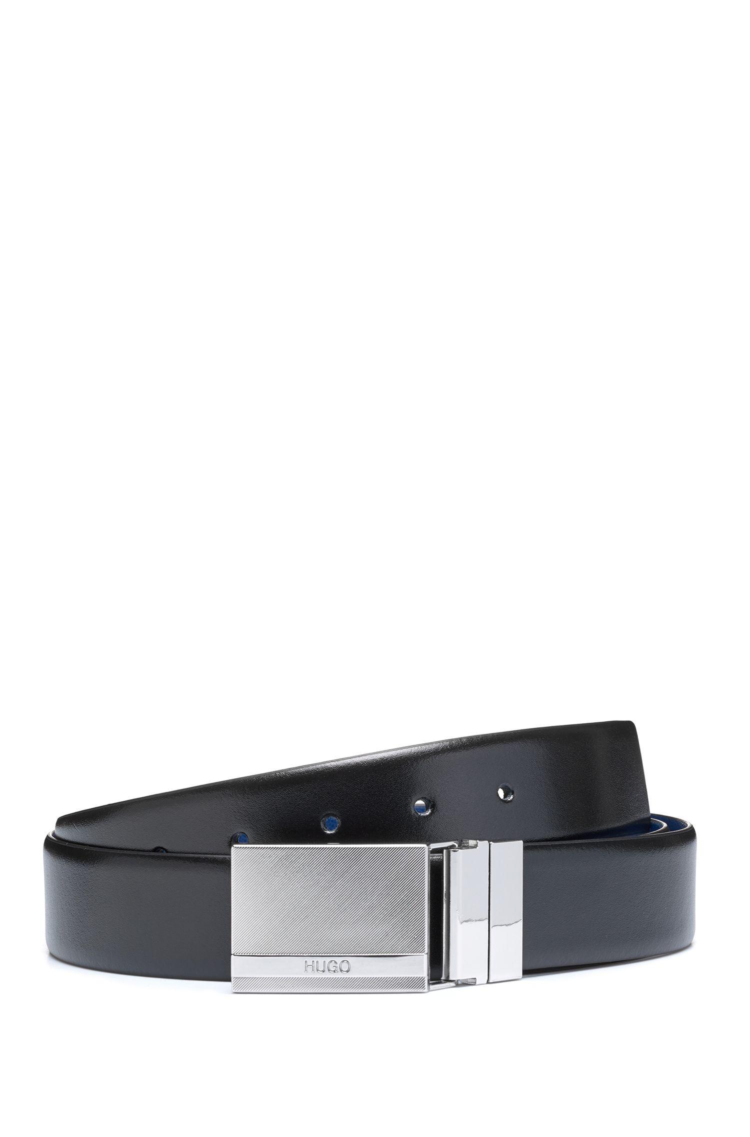 Geschenkbox mit Wendegürtel aus Leder und zwei Schließen