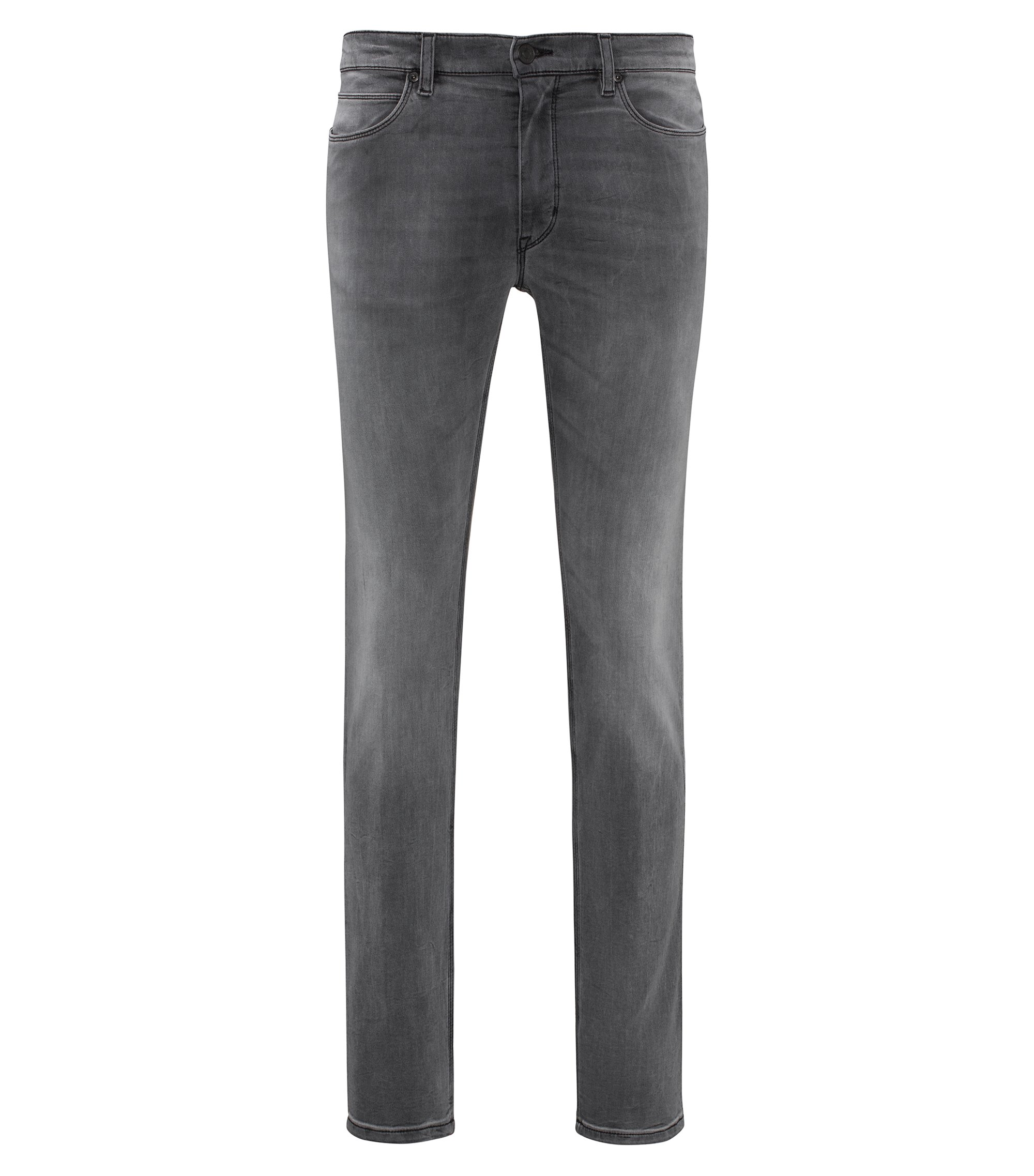 Jean Skinny Fit en denim stretch gris, Gris
