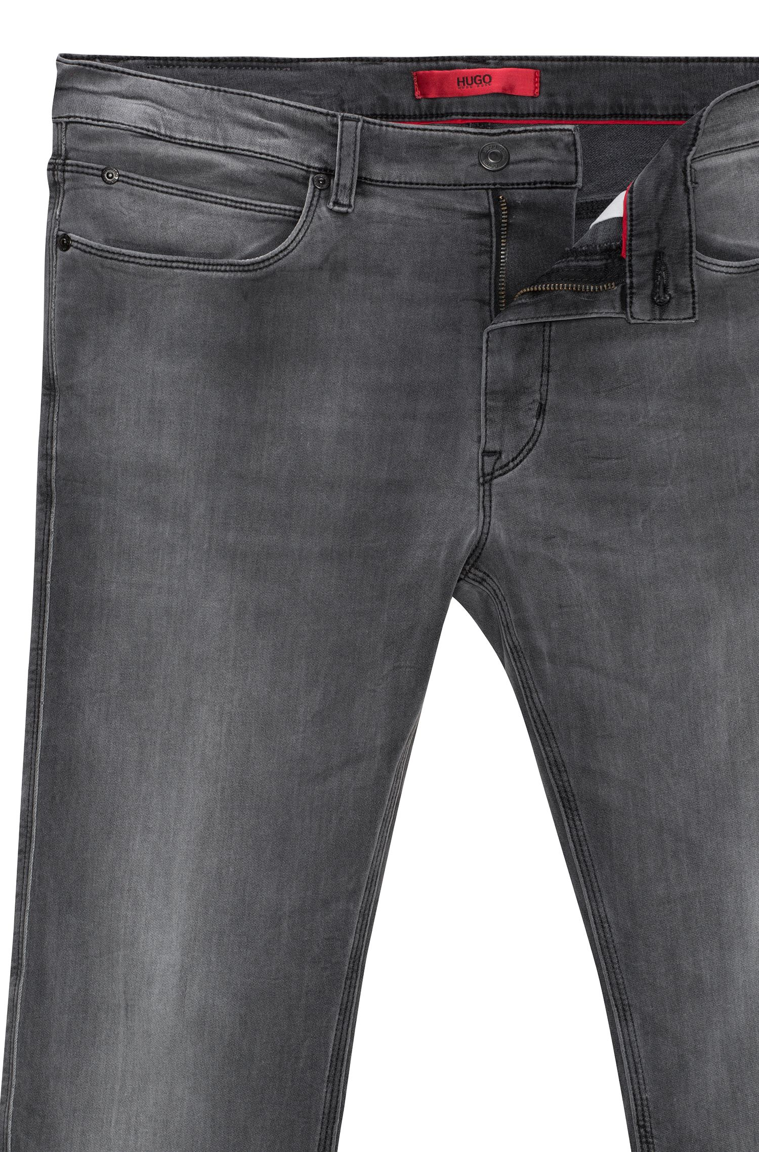 Jean Skinny Fit en denim stretch gris