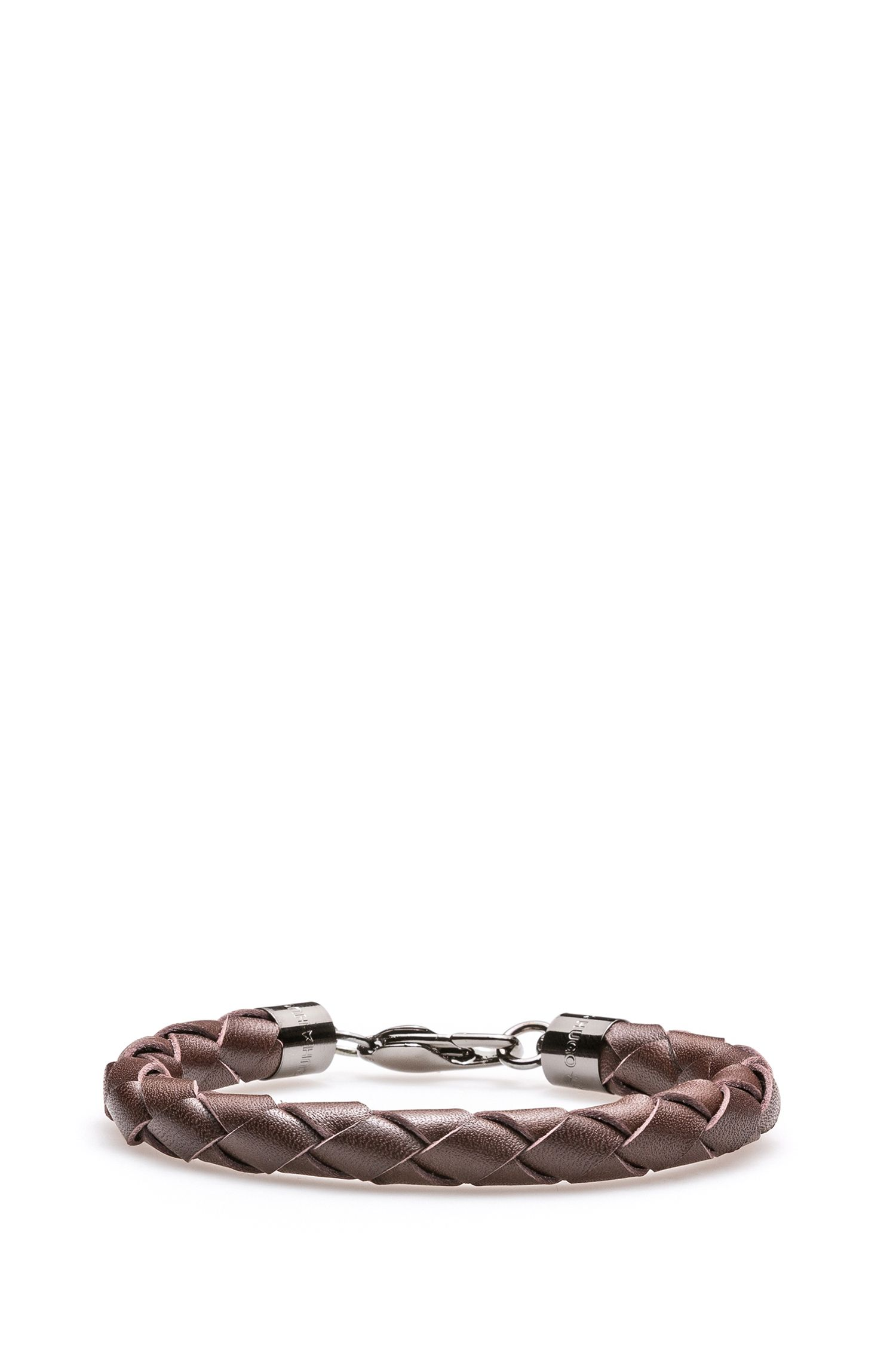 Braided bracelet in Italian leather