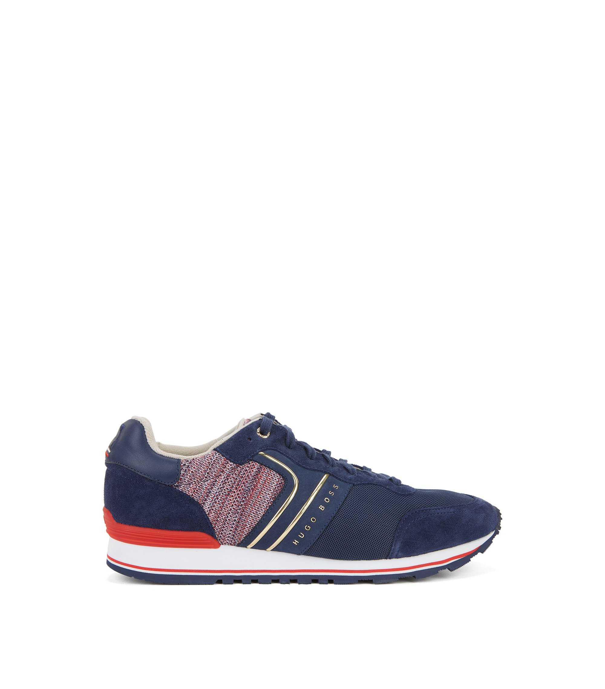 World Cup 2018 trainers in knitted fabric and leather, Dark Blue