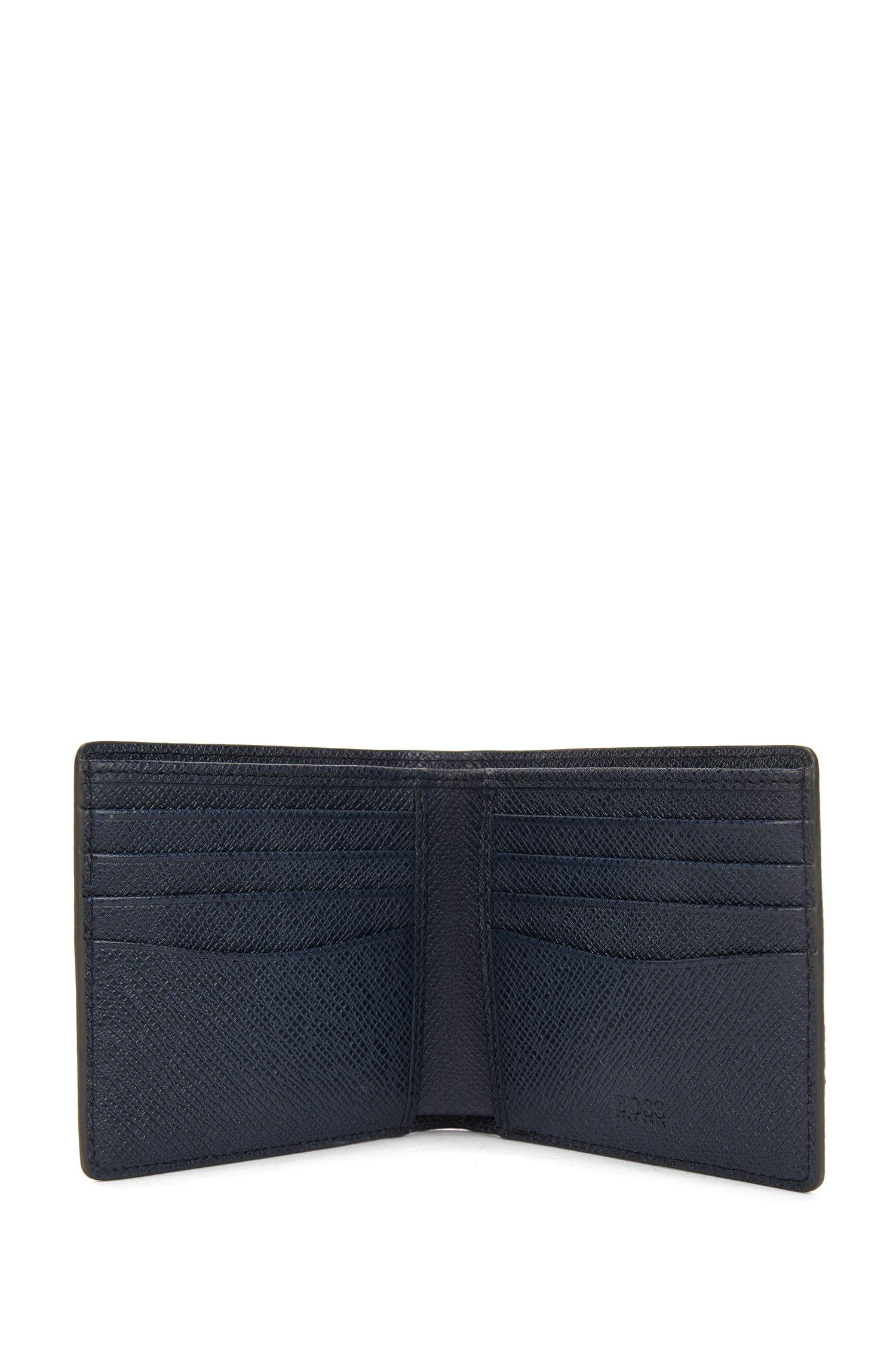 Portefeuille de la collection Signature en cuir palmellato color block, à deux volets