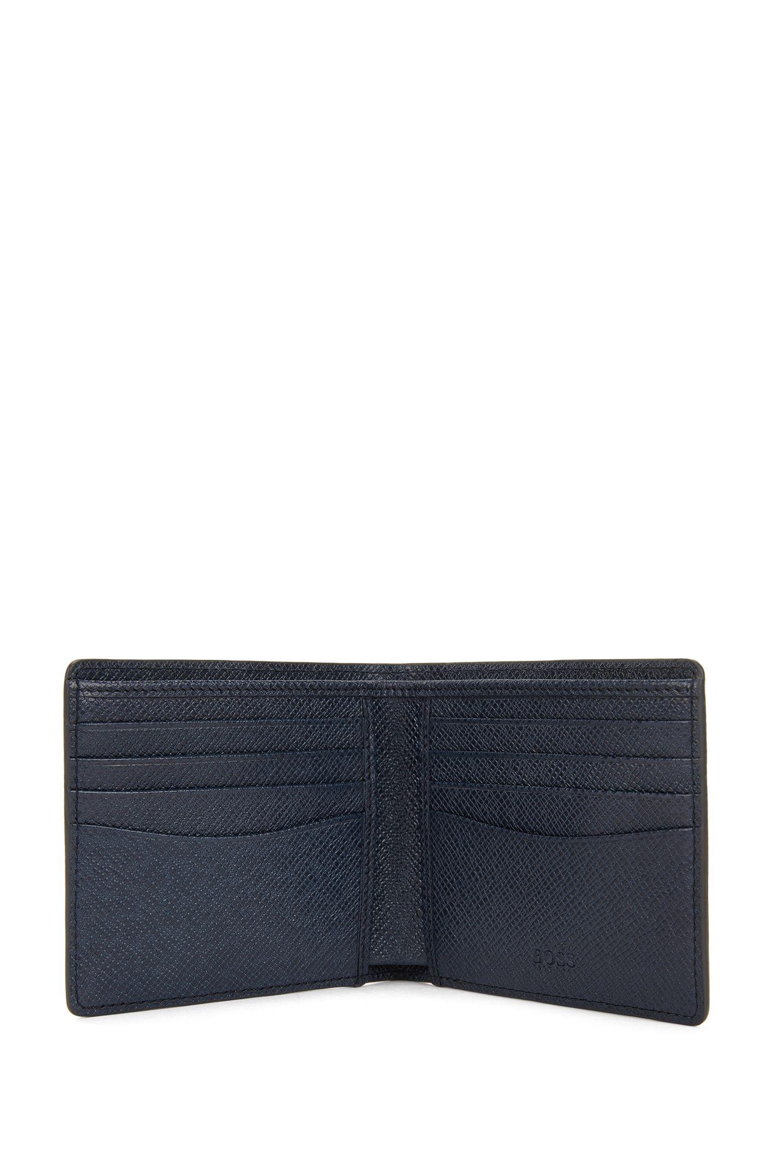Portefeuille de la collection Signature en cuir palmellato colorblock, à deux volets