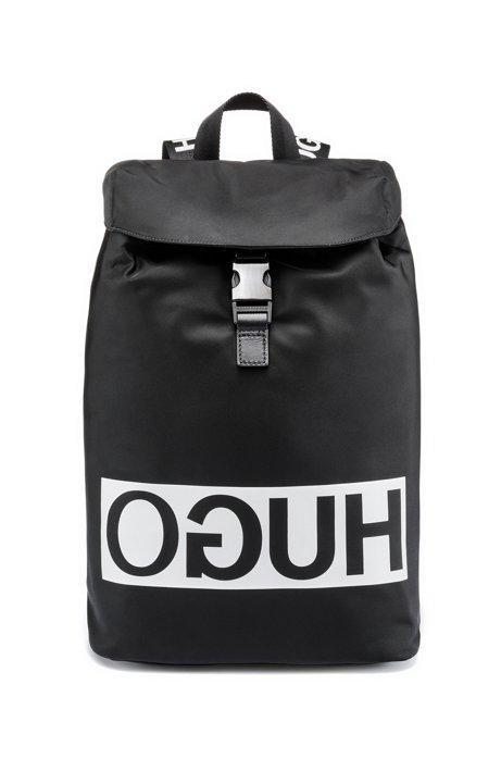 Reversed-logo shopper bag in nylon gabardine HUGO BOSS PYIKs