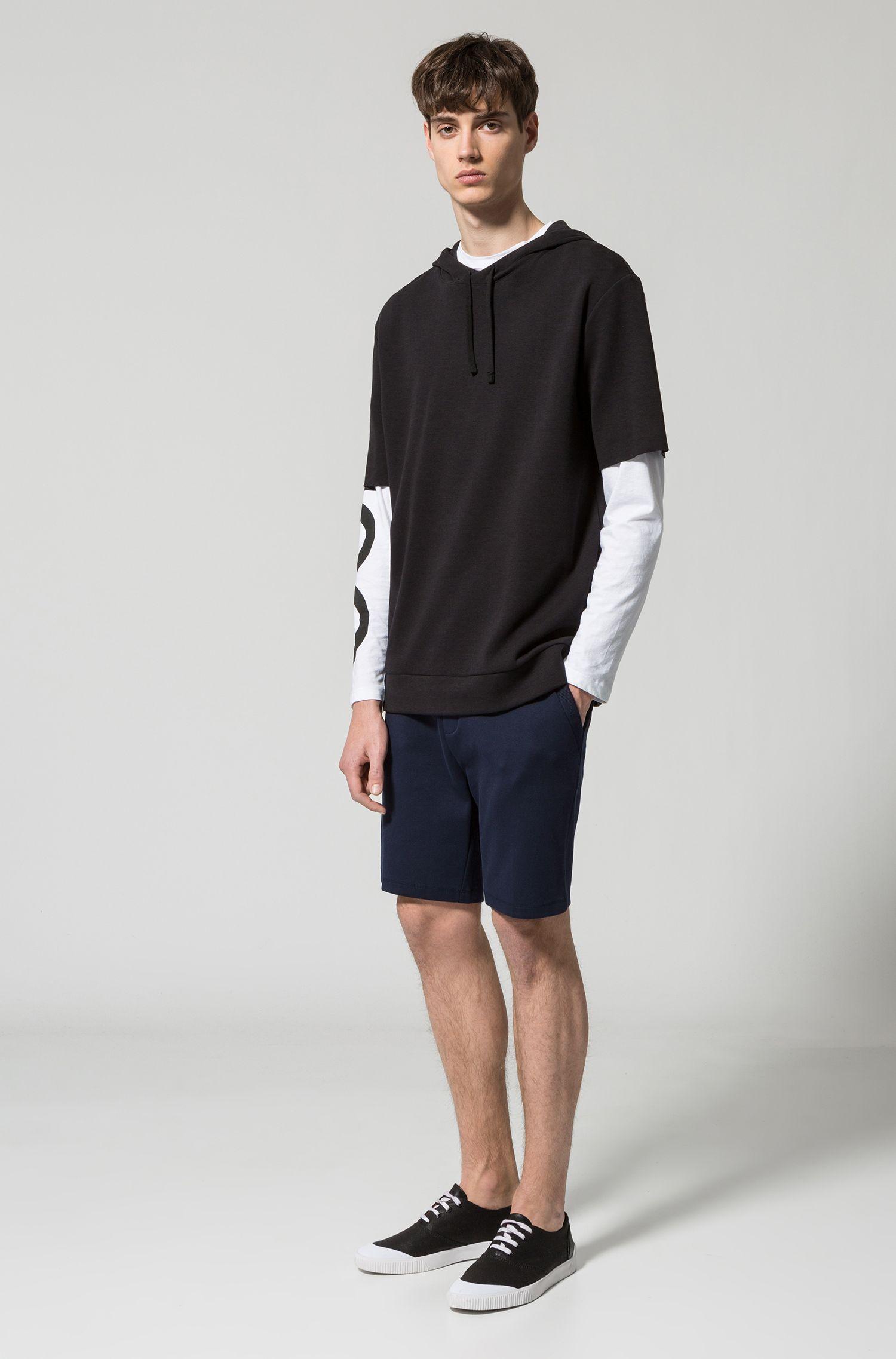 Shorts aus Interlock-Baumwolle mit Tunnelzug