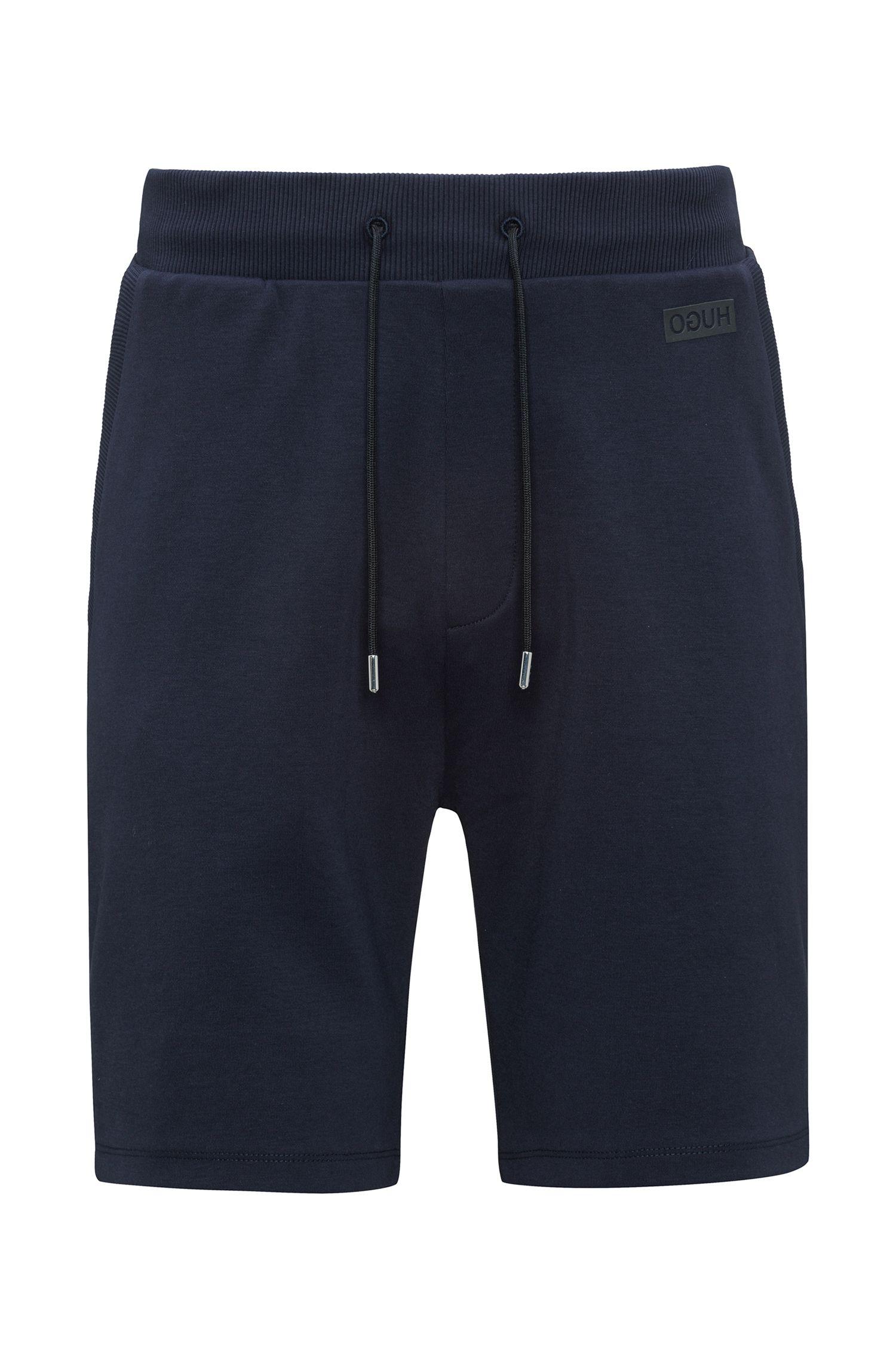Drawstring shorts in interlock cotton
