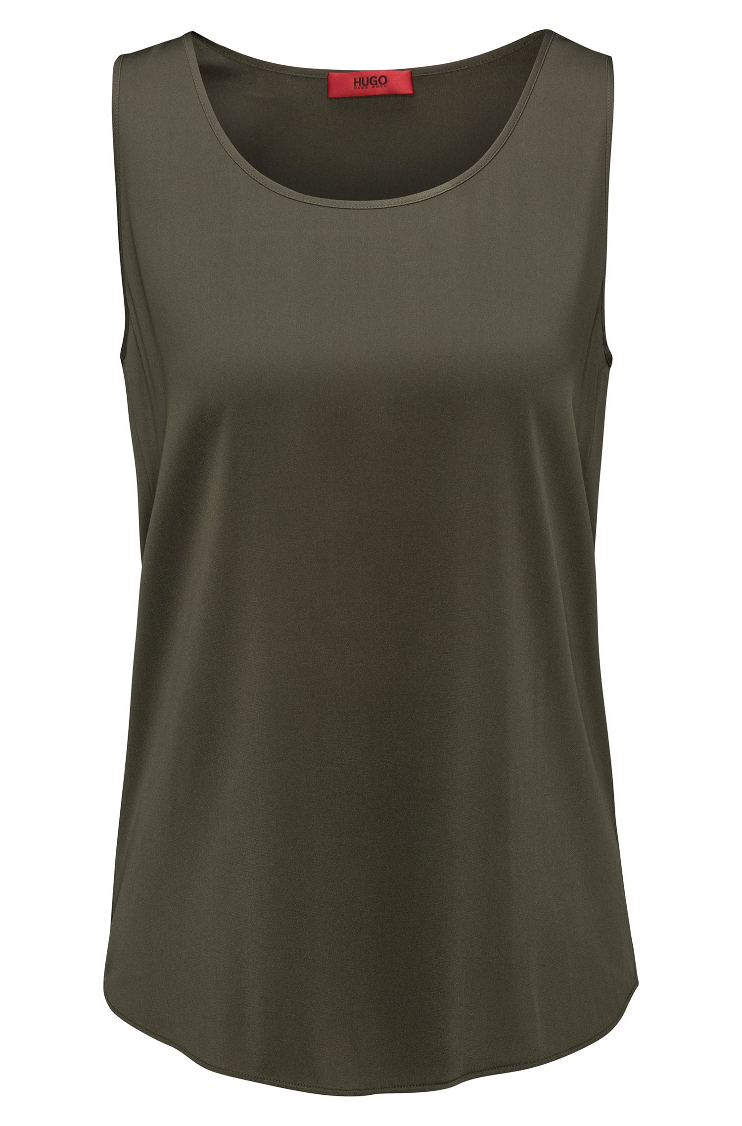 Sleeveless top in stretch silk