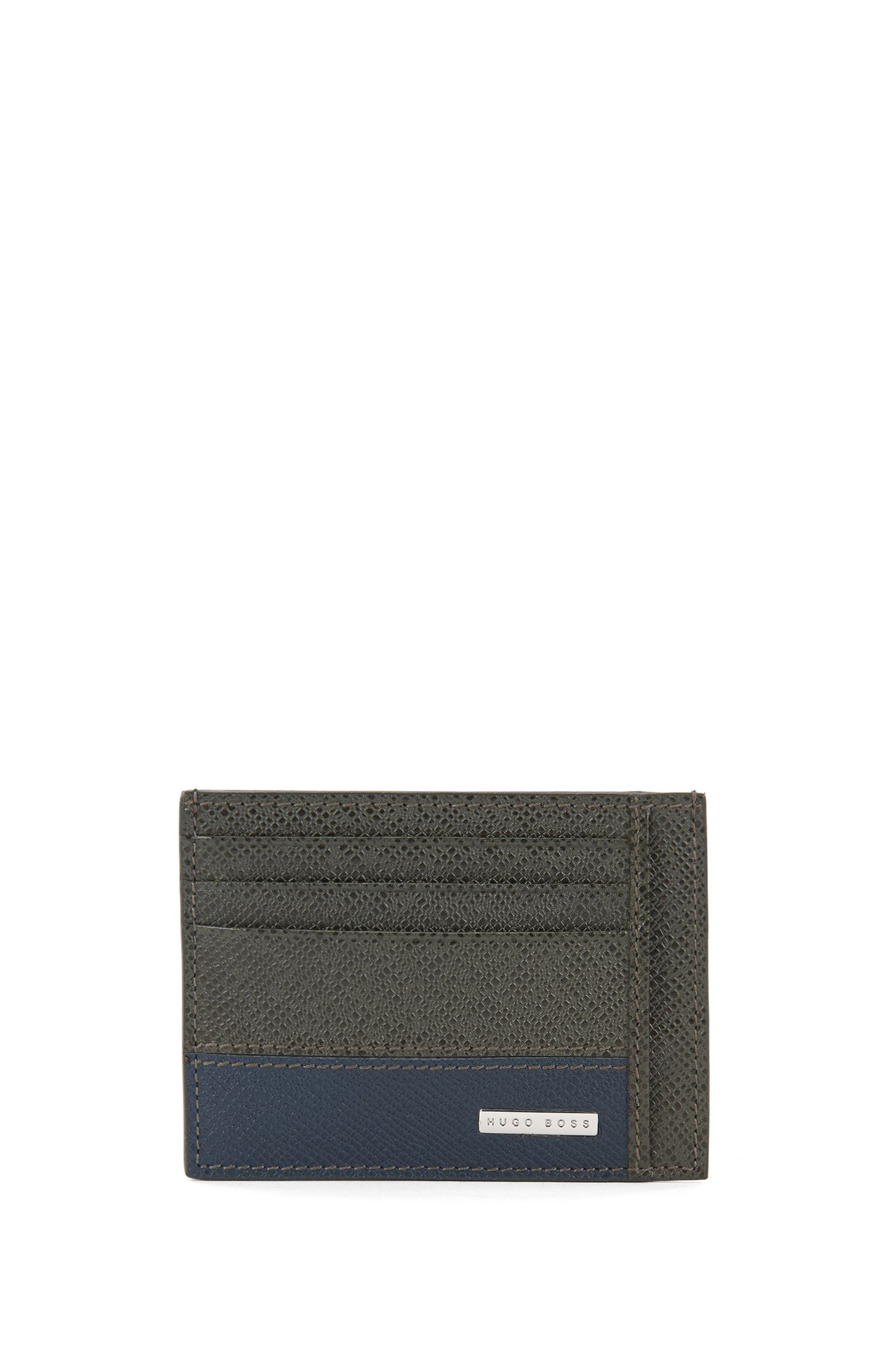 Porte-cartes de la collection Signature, en cuir palmellato color block