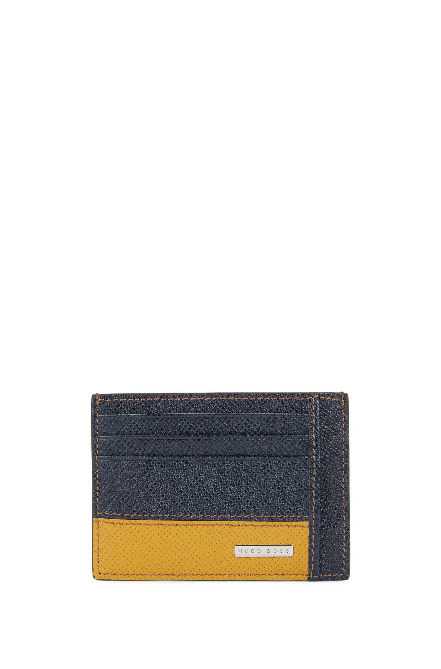 Porte-cartes de la collection Signature, en cuir palmellato color block