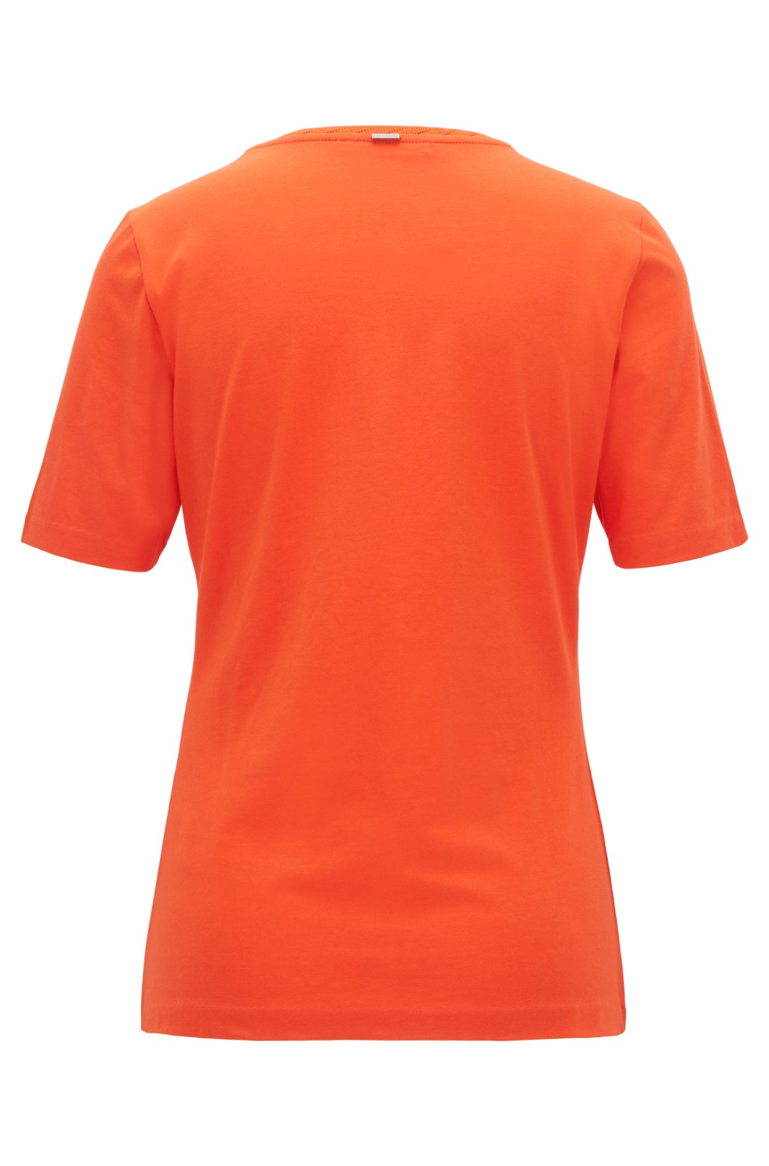 Top Regular Fit à col ras-du-cou en jersey stretch