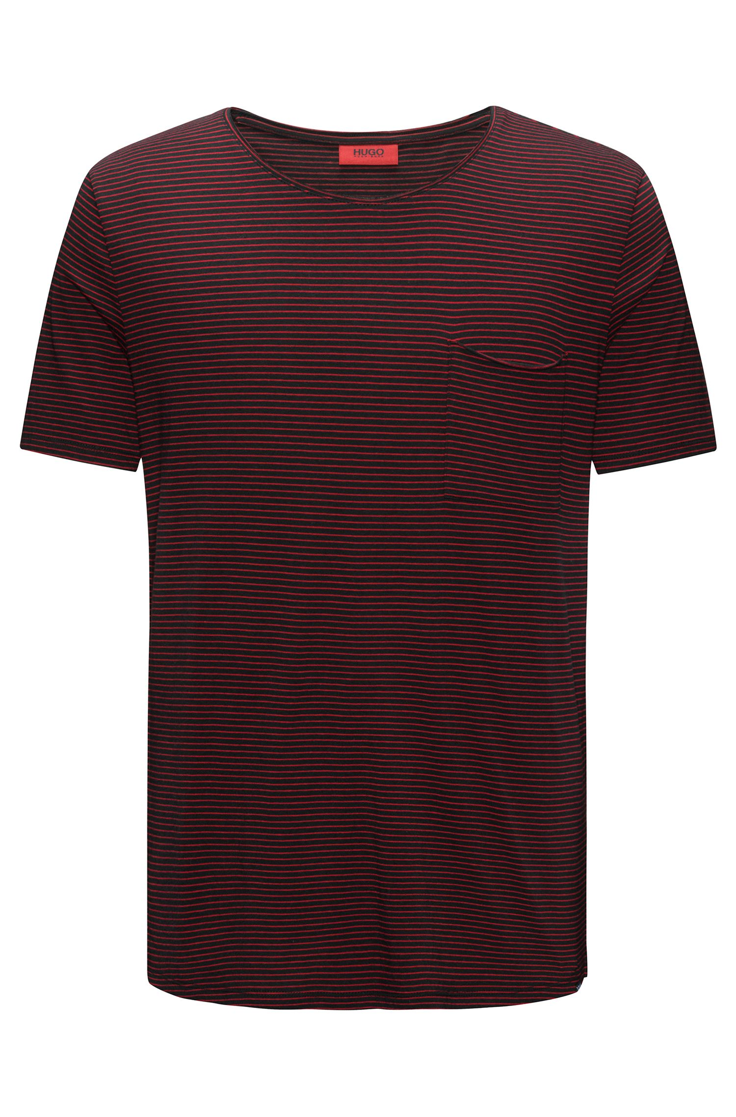 Striped cotton-blend T-shirt in a relaxed fit