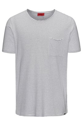 Cheap Wide Range Of Striped cotton-blend T-shirt in a relaxed fit HUGO BOSS Discount Real Outlet Very Cheap Shopping Online Sale Online QoWSg18