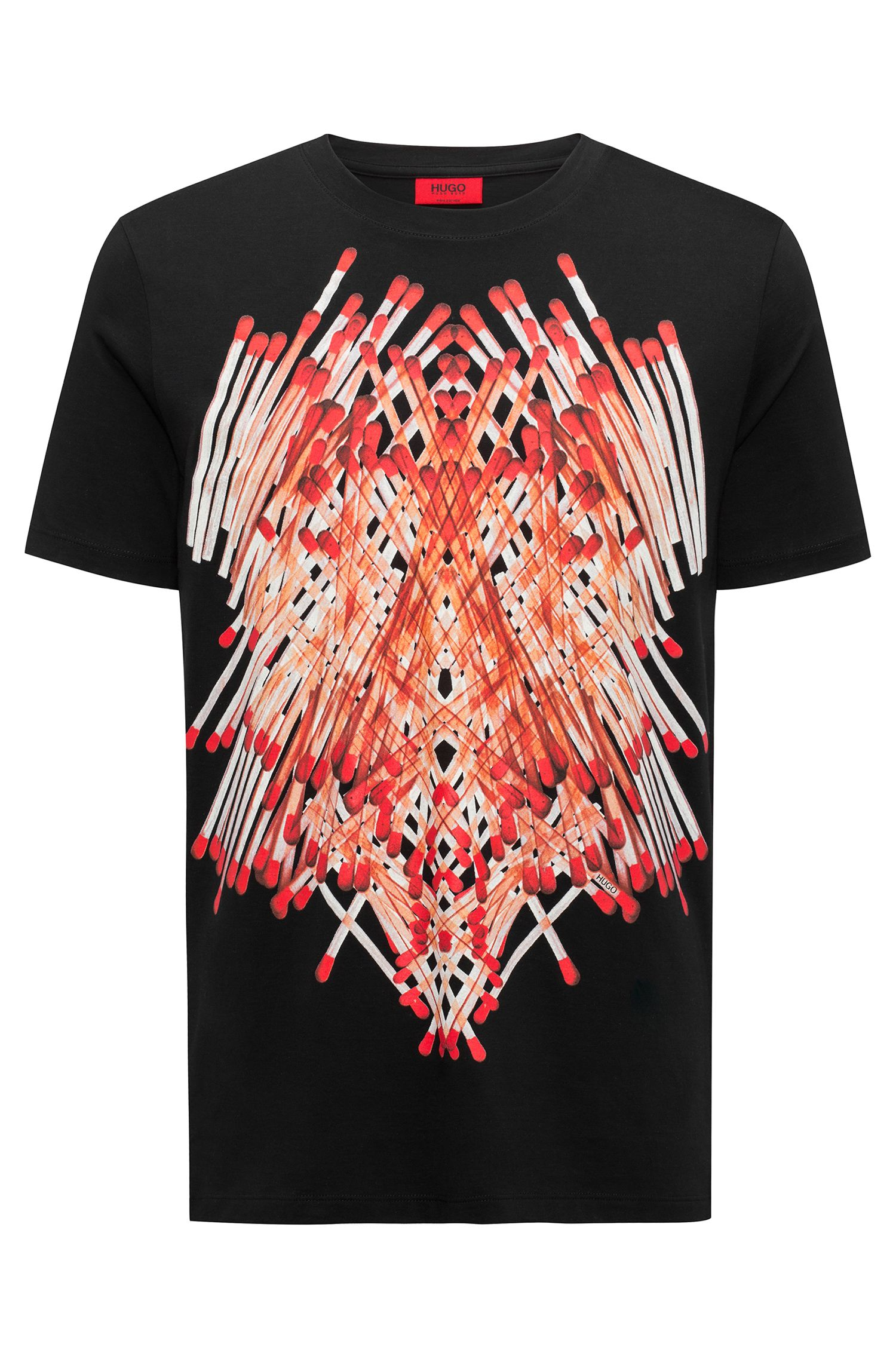 Relaxed-fit T-shirt van pimakatoen met luciferprint