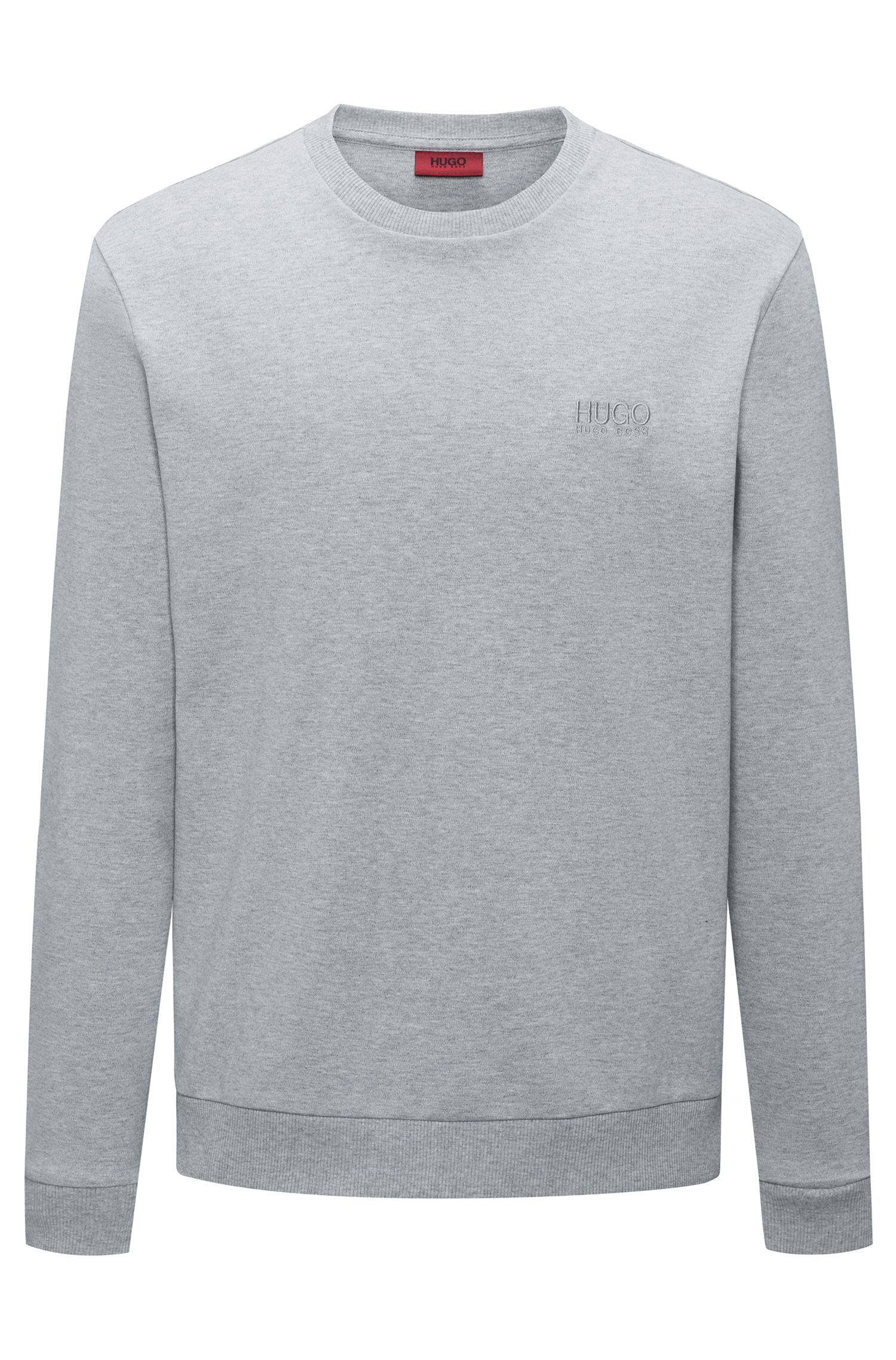 Logo sweater in interlock cotton