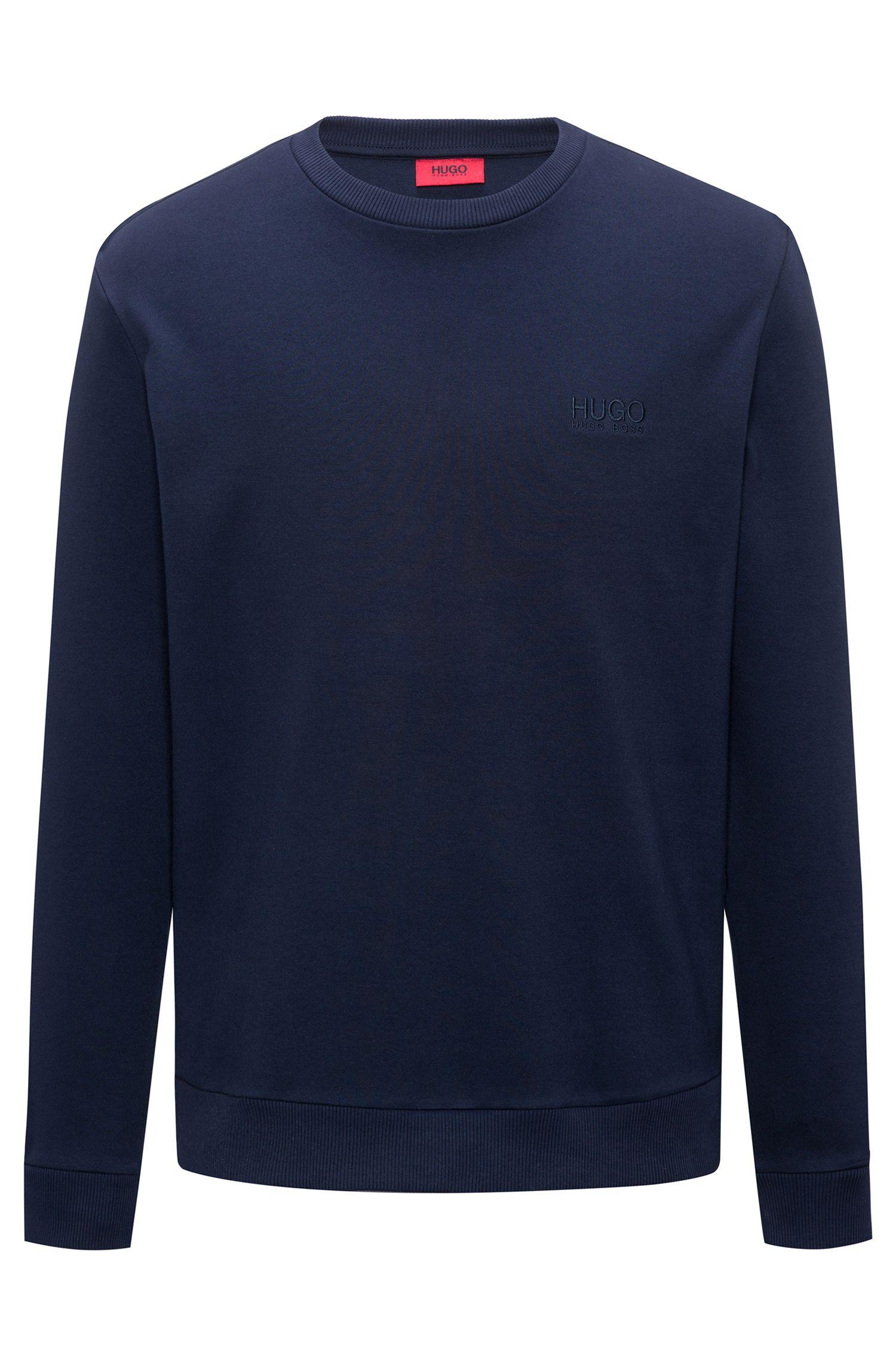 Logo sweater in interlock cotton