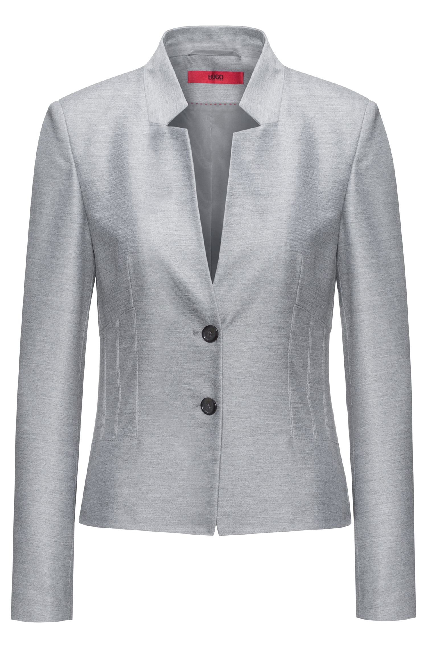 Regular-Fit Blazer mit modernem Kragen
