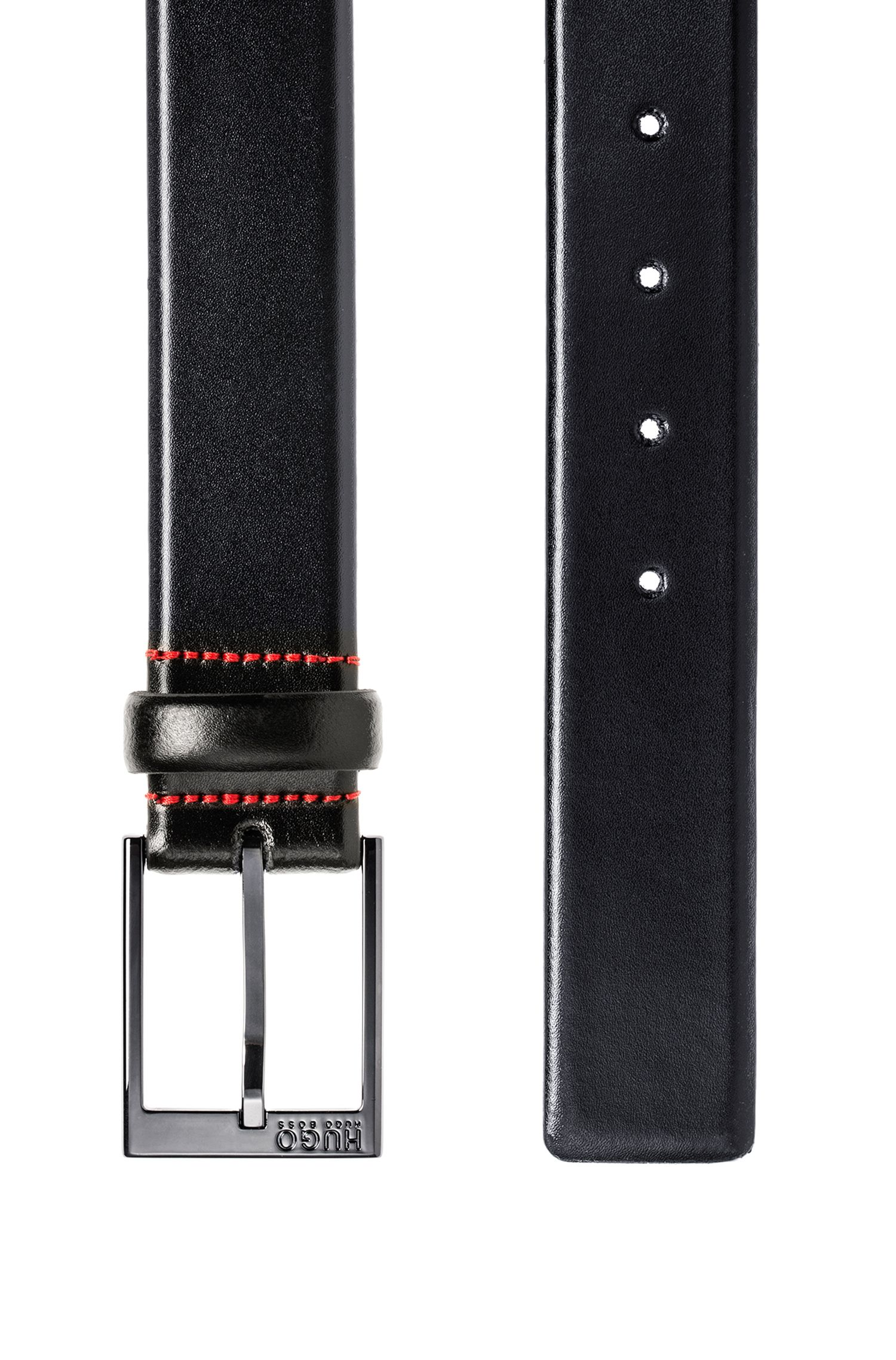 Belt in smooth leather, Black