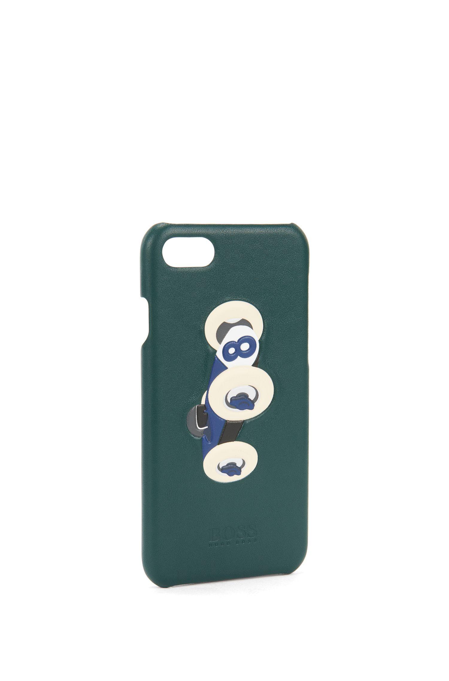 Coque d'iPhone7 en cuir avec motif voiture de course