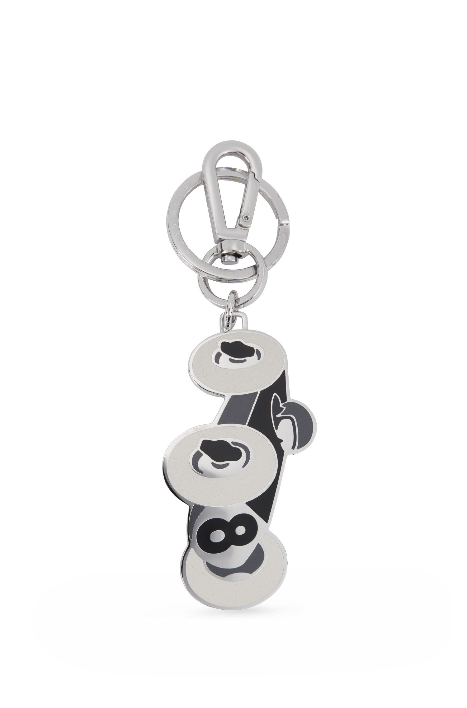 Stainless-steel key holder with coloured enamel