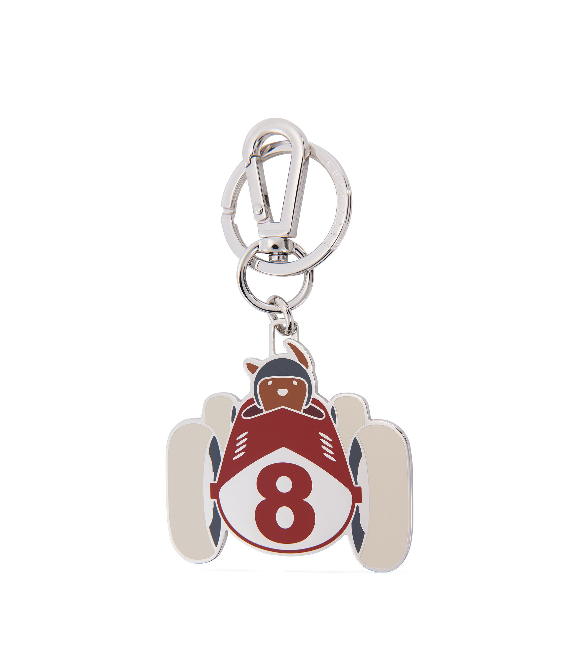 Key holder in steel and enamel, Red