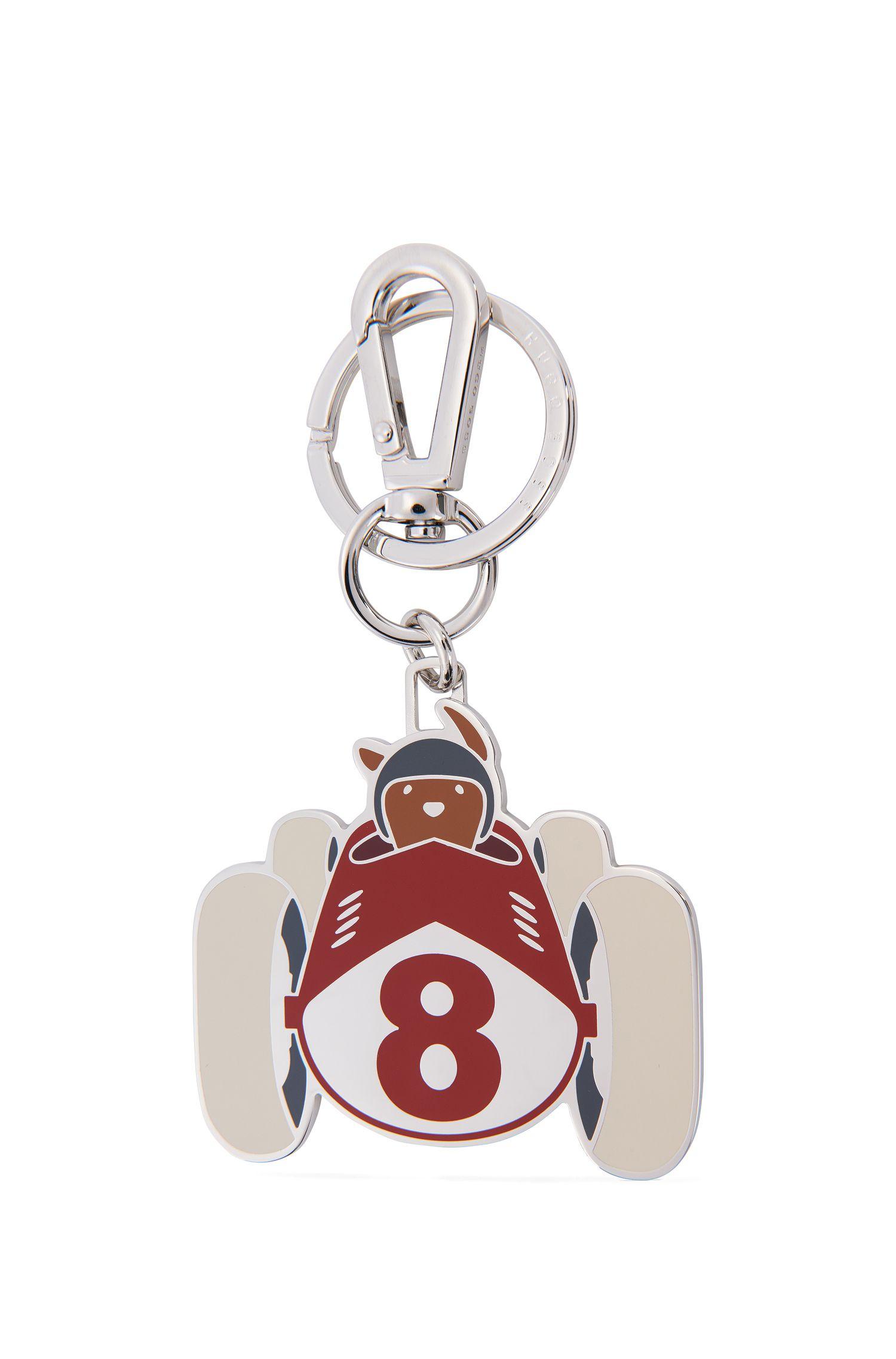 Porte-clés en acier et émail