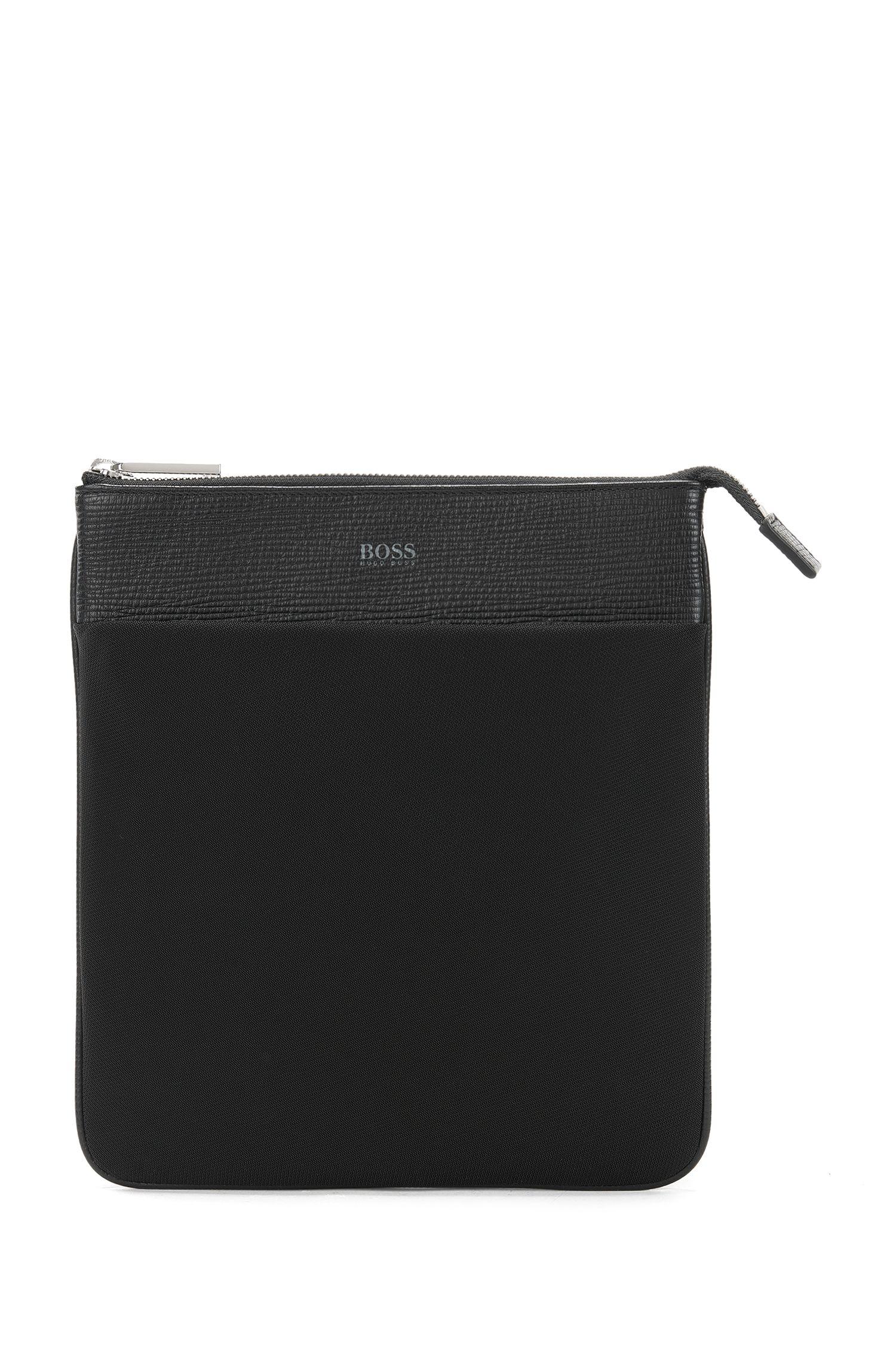 Kurier-Tasche aus Nylon und Leder