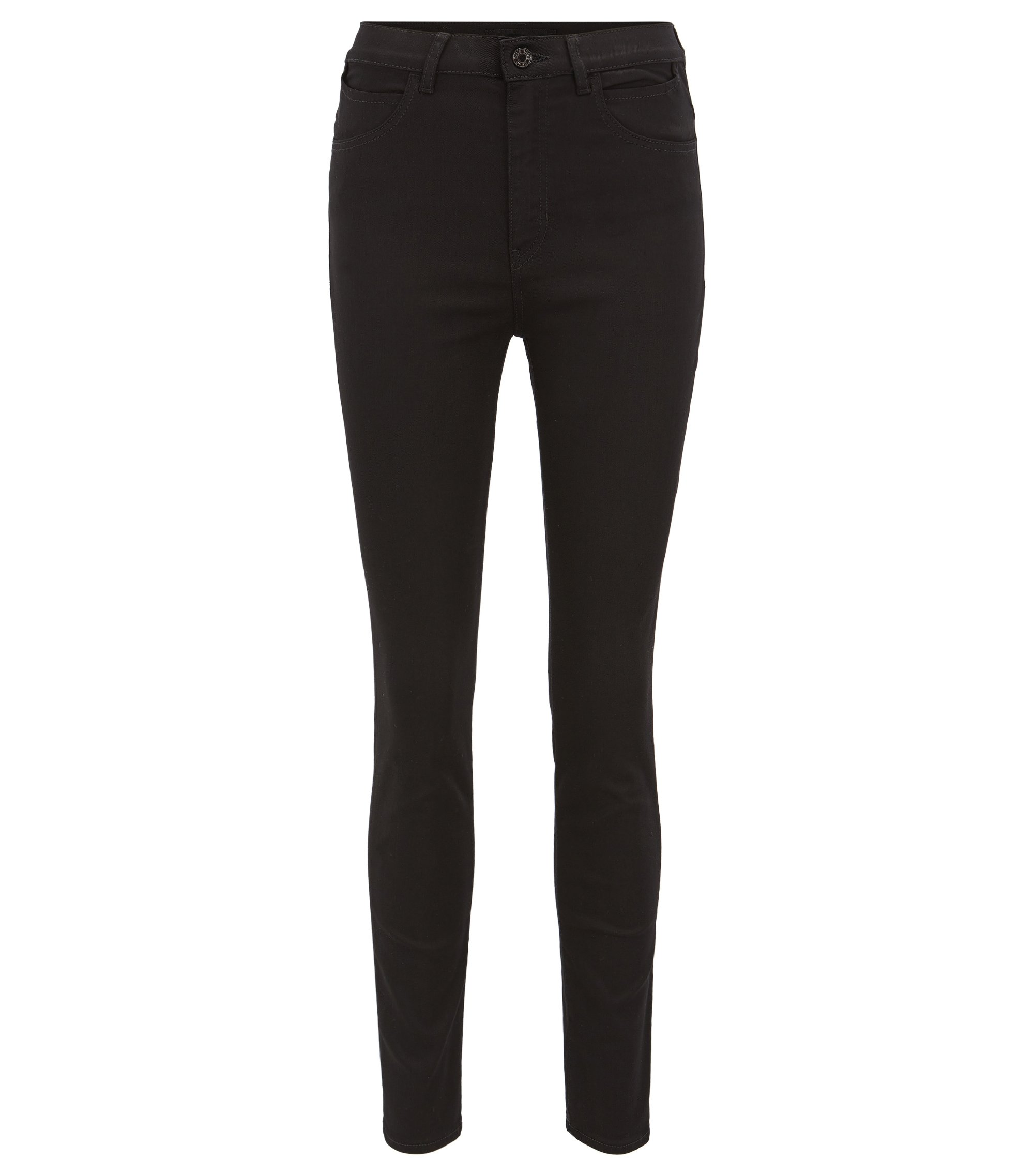 Slim-fit jeans in black super-stretch denim, Black