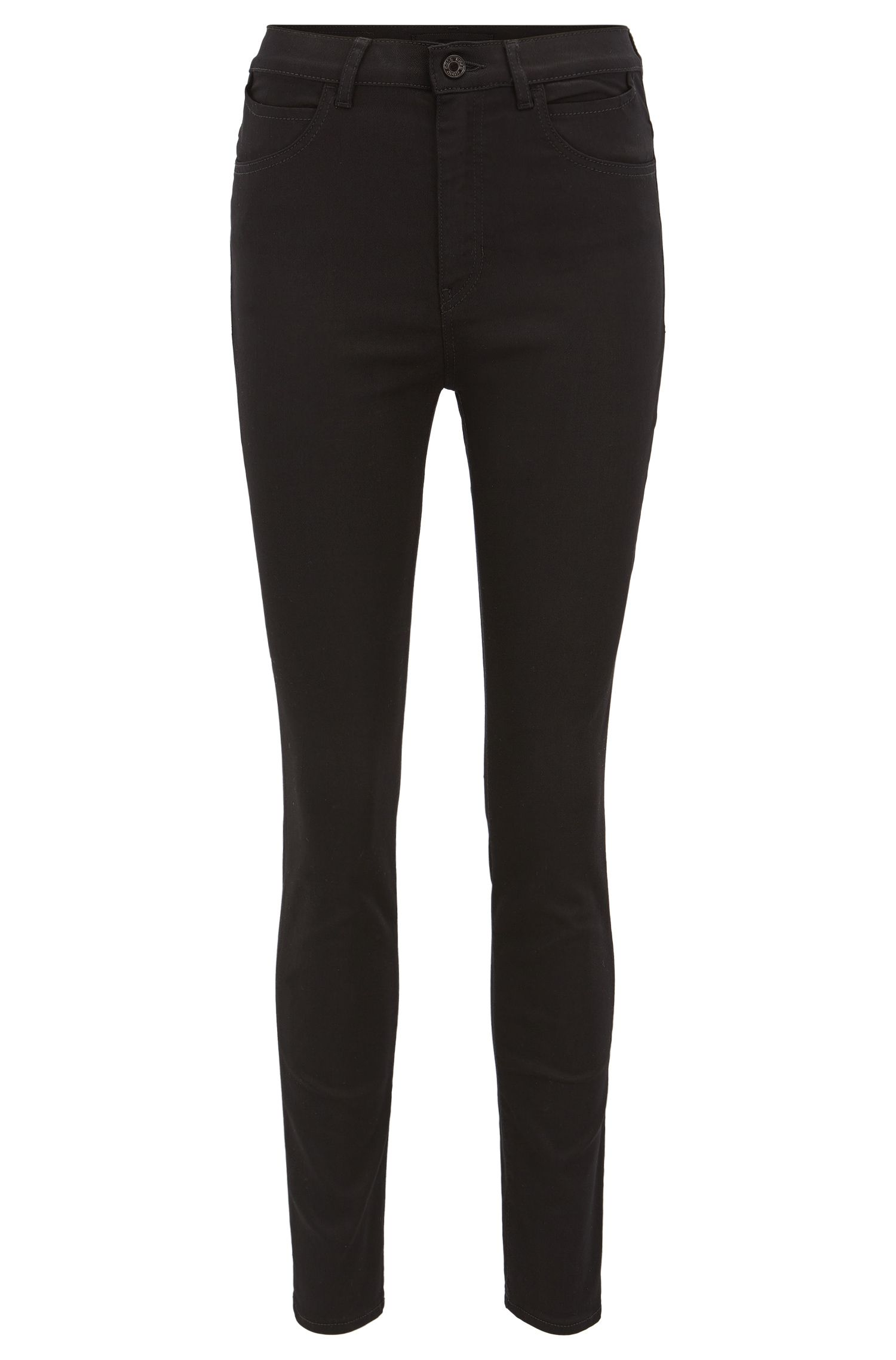 Slim-fit jeans in black super-stretch denim